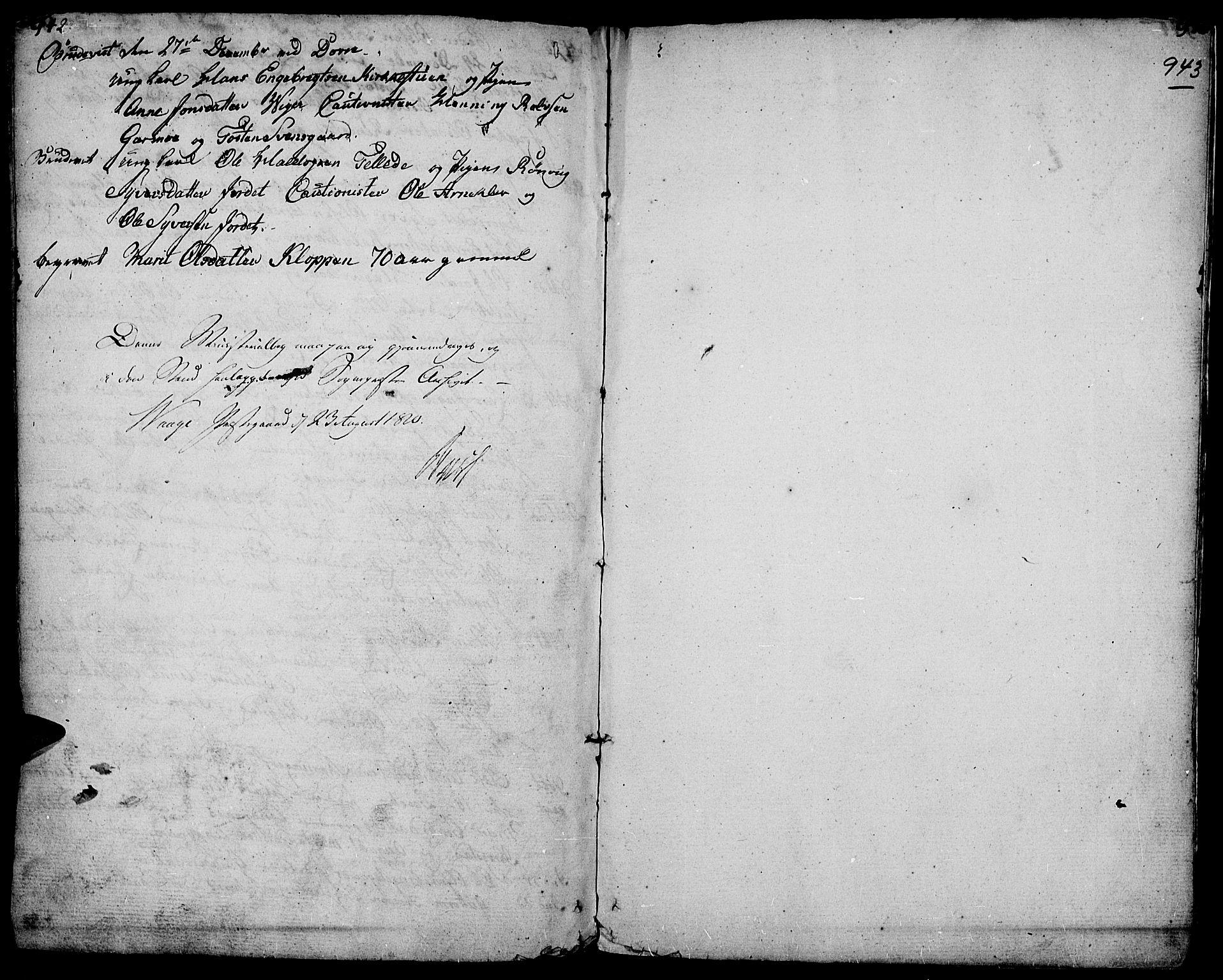 SAH, Lesja prestekontor, Ministerialbok nr. 3, 1777-1819, s. 942-943
