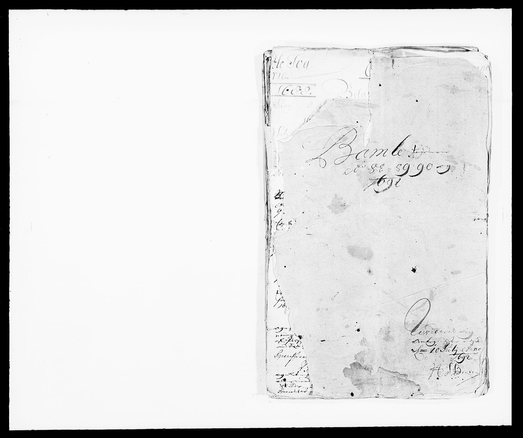 RA, Rentekammeret inntil 1814, Reviderte regnskaper, Fogderegnskap, R34/L2050: Fogderegnskap Bamble, 1688-1691, s. 1
