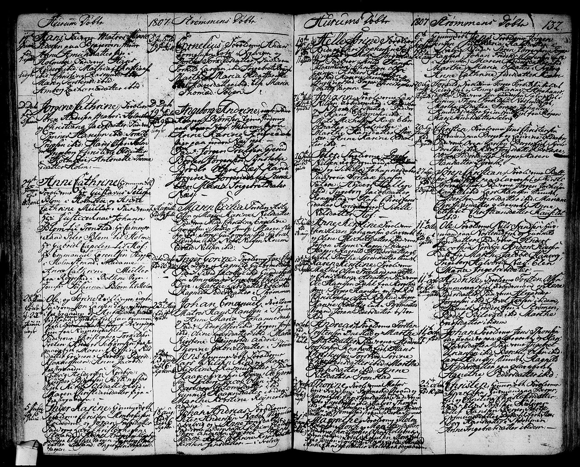 SAKO, Hurum kirkebøker, F/Fa/L0007: Ministerialbok nr. 7, 1771-1810, s. 132