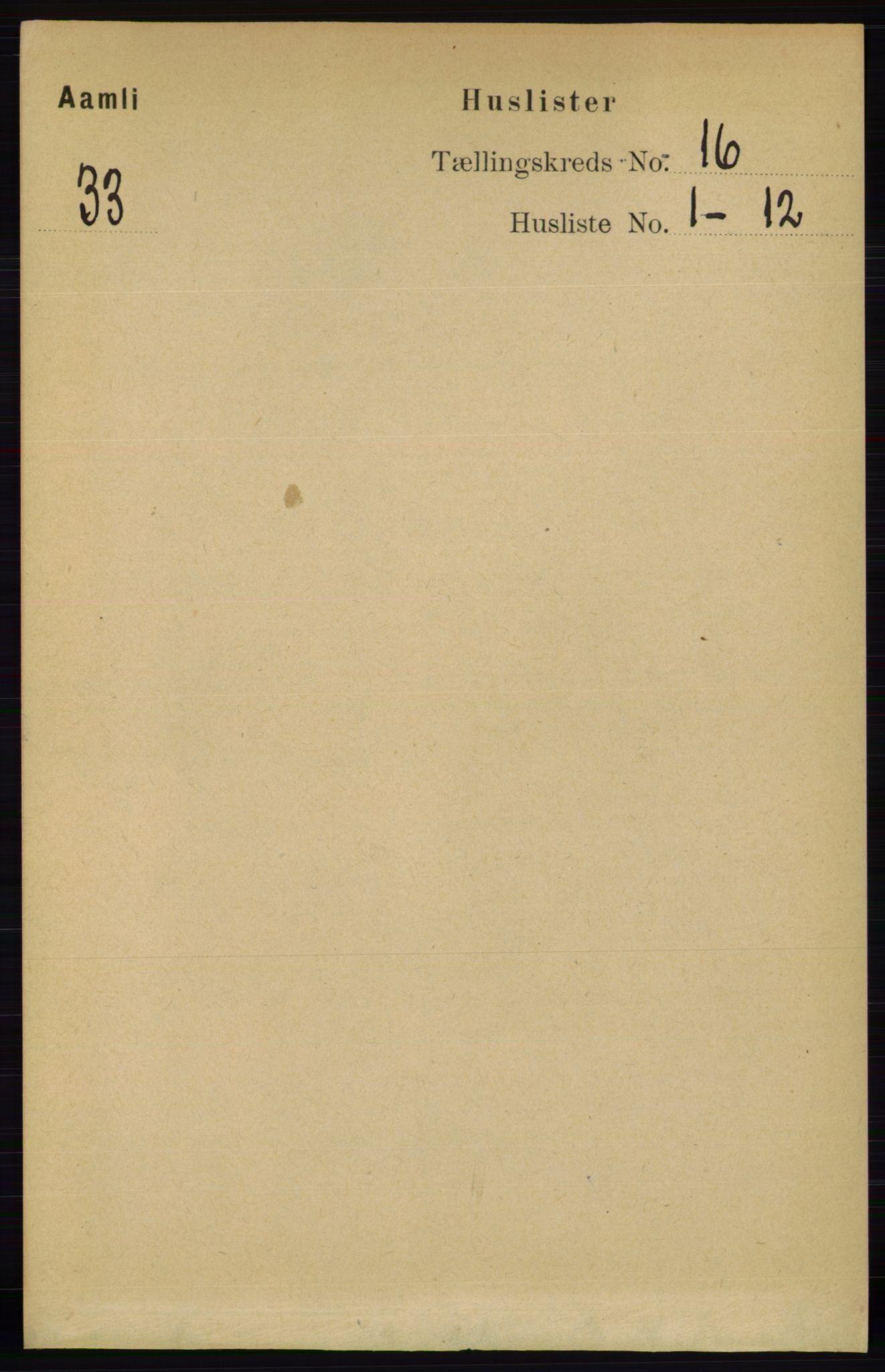 RA, Folketelling 1891 for 0929 Åmli herred, 1891, s. 2667