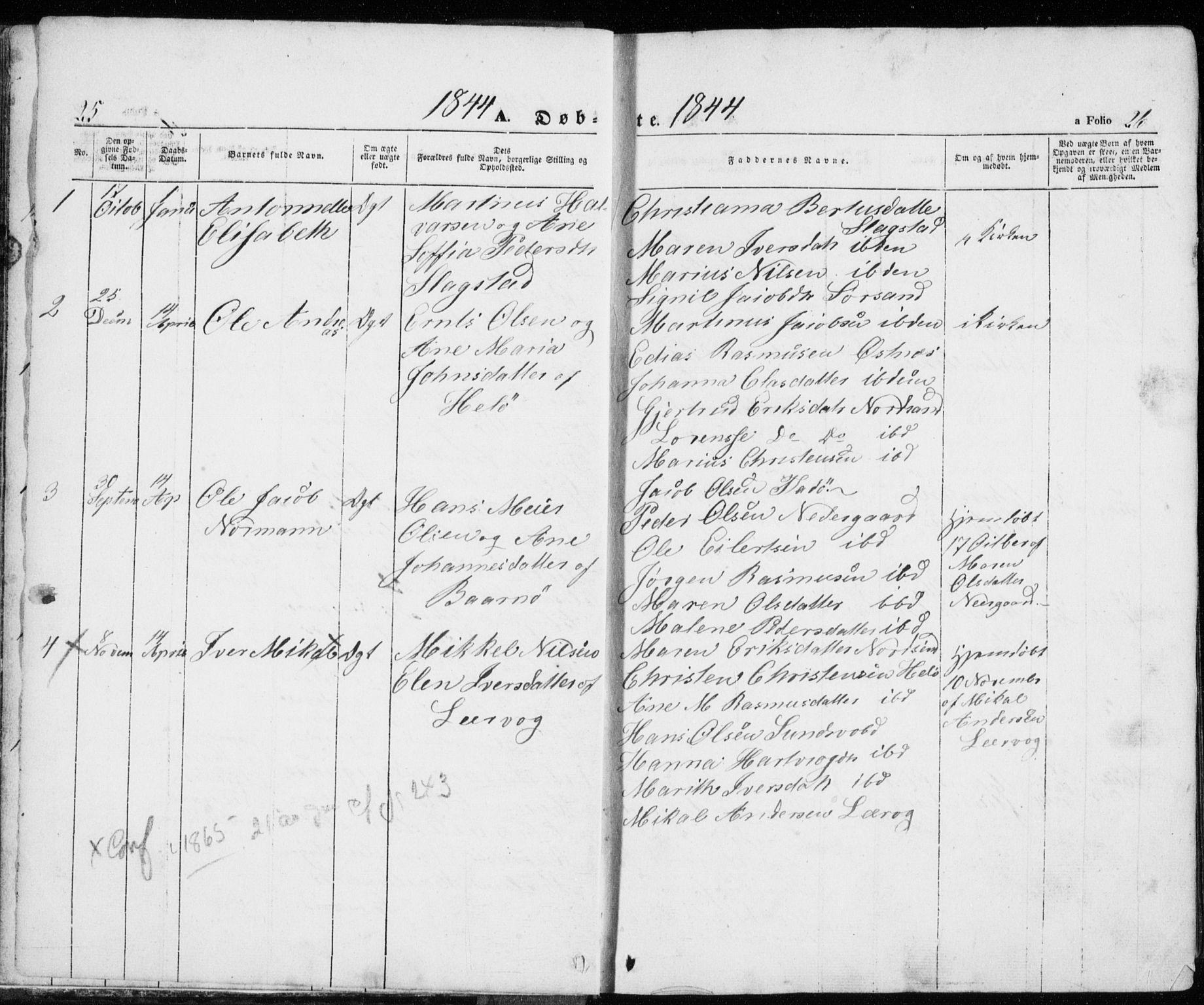 SATØ, Trondenes sokneprestkontor, H/Ha/L0010kirke: Ministerialbok nr. 10, 1840-1865, s. 25-26