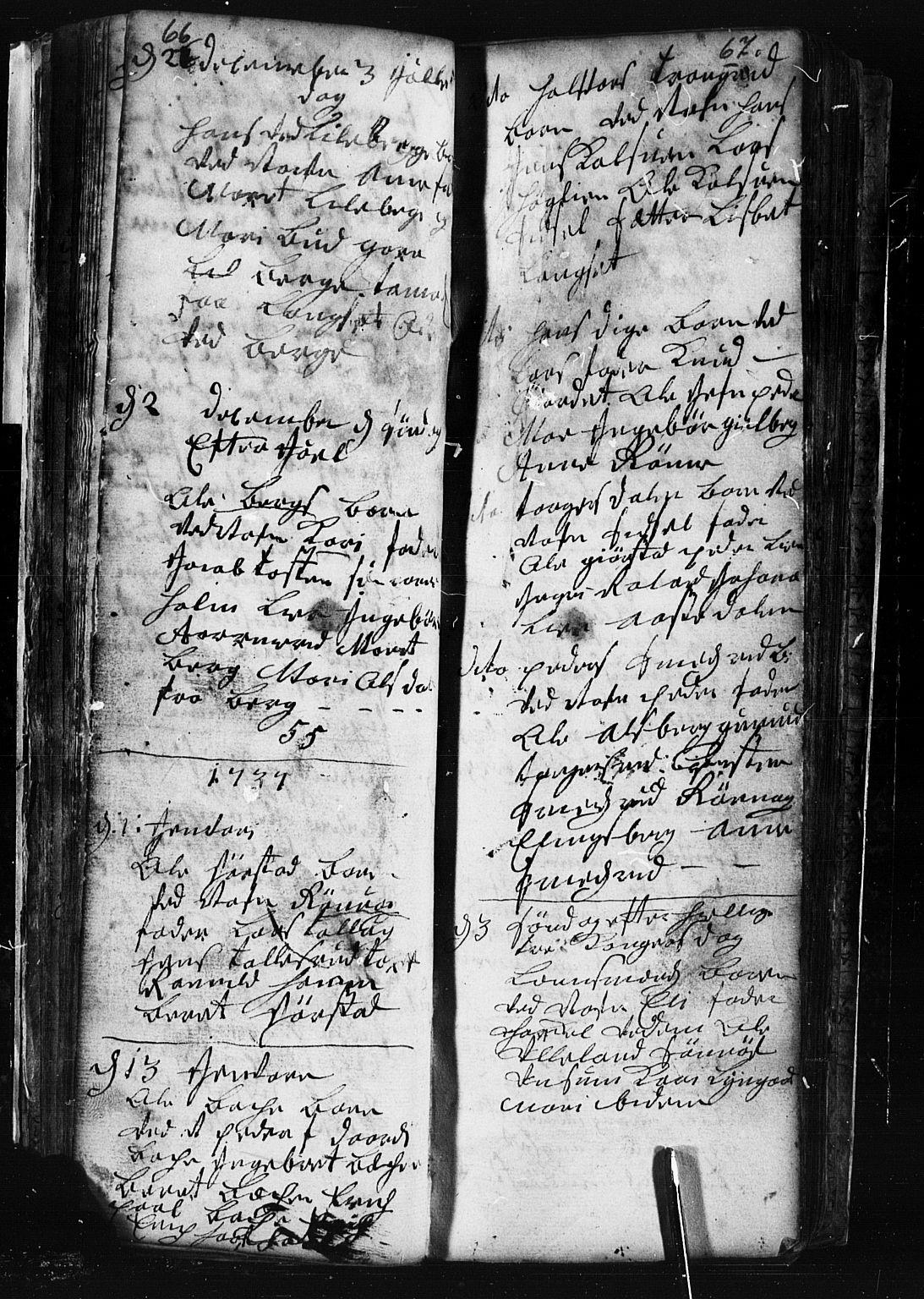 SAH, Fåberg prestekontor, Klokkerbok nr. 1, 1727-1767, s. 66-67