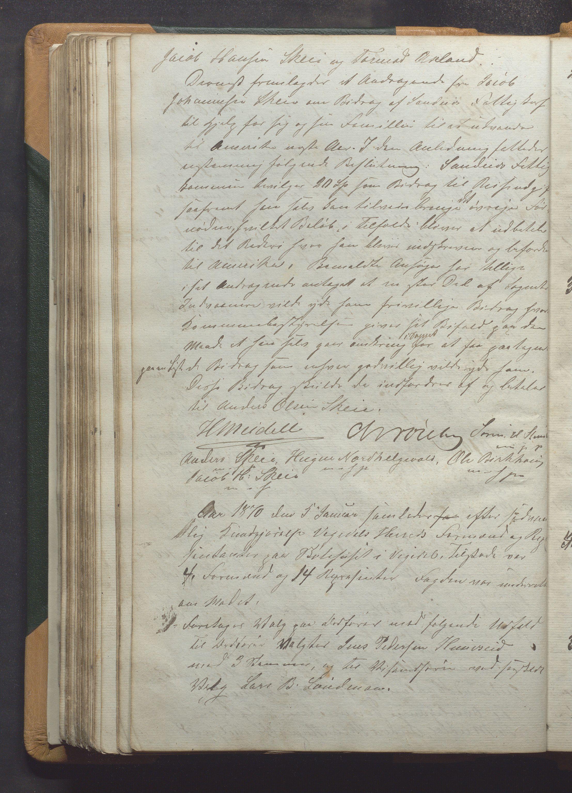 IKAR, Vikedal kommune - Formannskapet, Aaa/L0001: Møtebok, 1837-1874, s. 195b