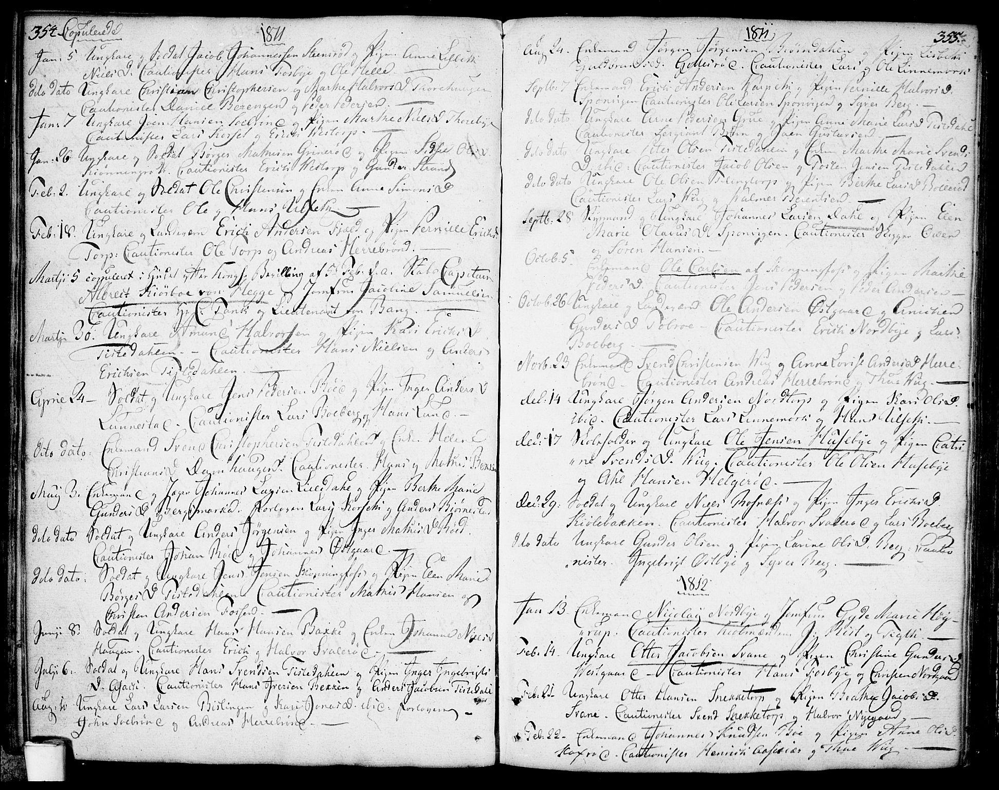 SAO, Berg prestekontor Kirkebøker, F/Fa/L0001: Ministerialbok nr. I 1, 1770-1814, s. 354-355