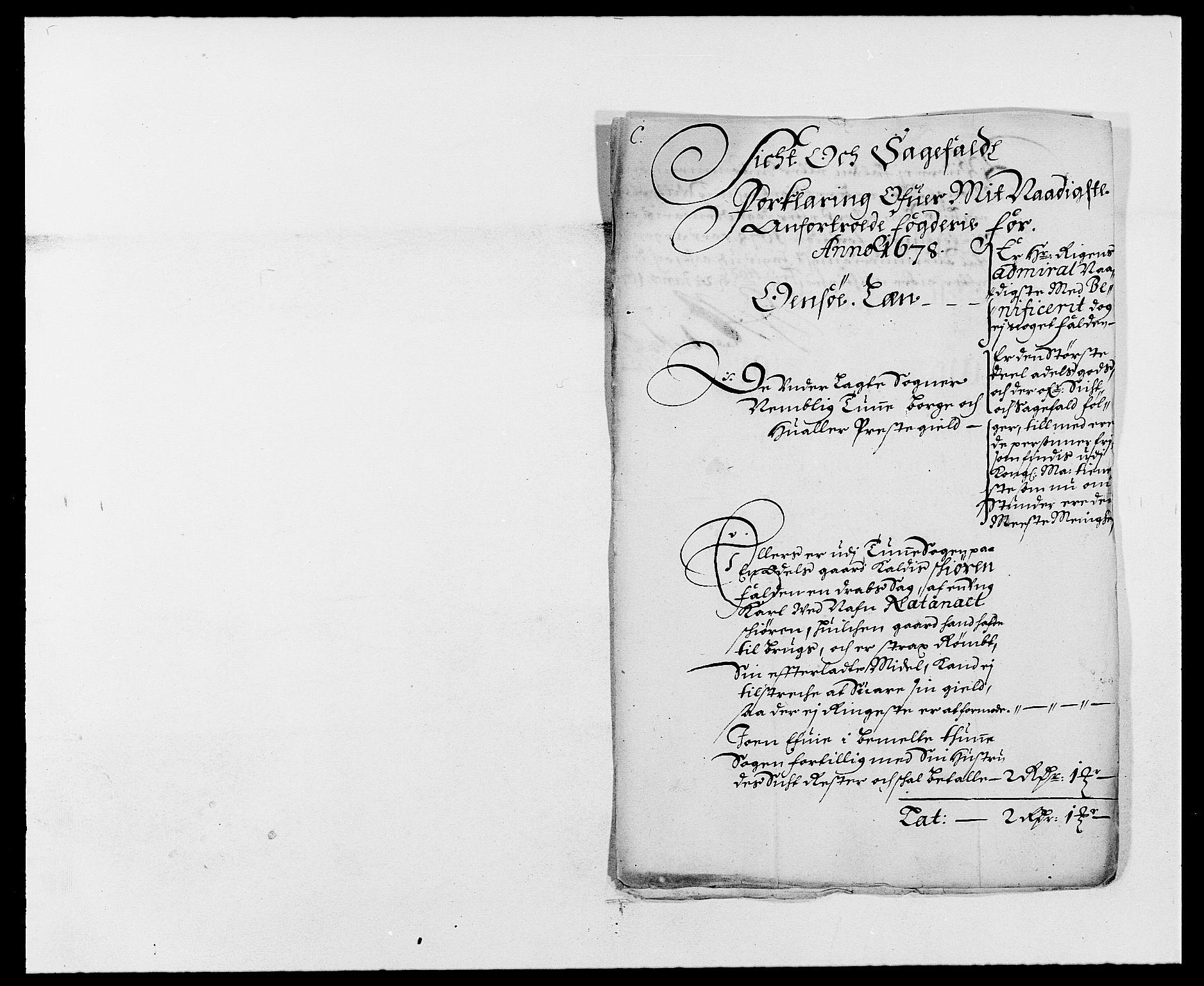 RA, Rentekammeret inntil 1814, Reviderte regnskaper, Fogderegnskap, R03/L0109: Fogderegnskap Onsøy, Tune, Veme og Åbygge fogderi, 1678, s. 61