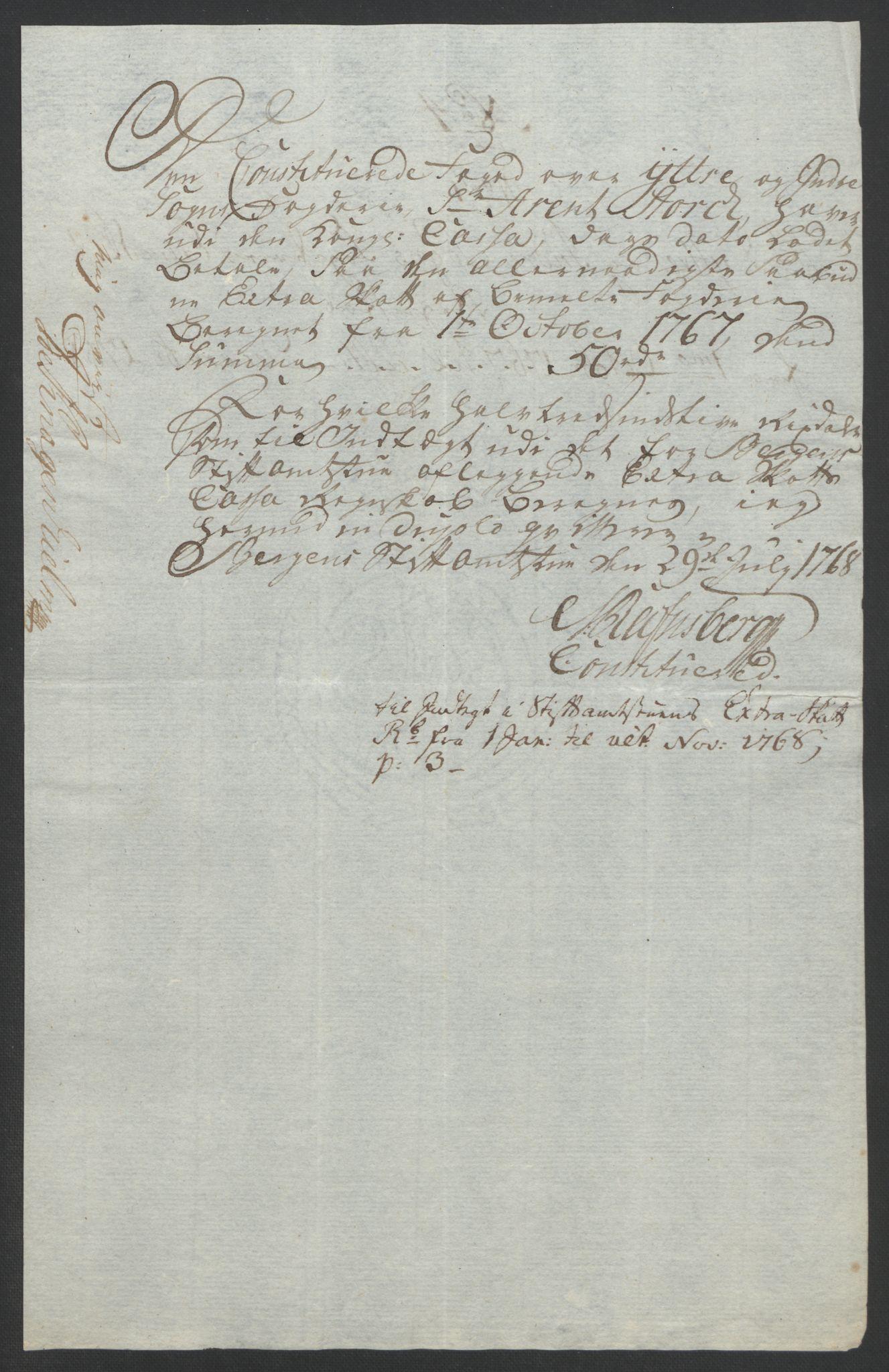 RA, Rentekammeret inntil 1814, Realistisk ordnet avdeling, Ol/L0018: [Gg 10]: Ekstraskatten, 23.09.1762. Sogn, 1762-1772, s. 190