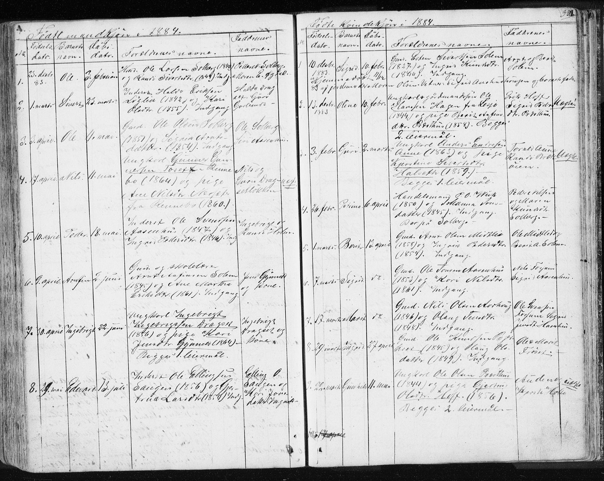 SAT, Ministerialprotokoller, klokkerbøker og fødselsregistre - Sør-Trøndelag, 689/L1043: Klokkerbok nr. 689C02, 1816-1892, s. 332