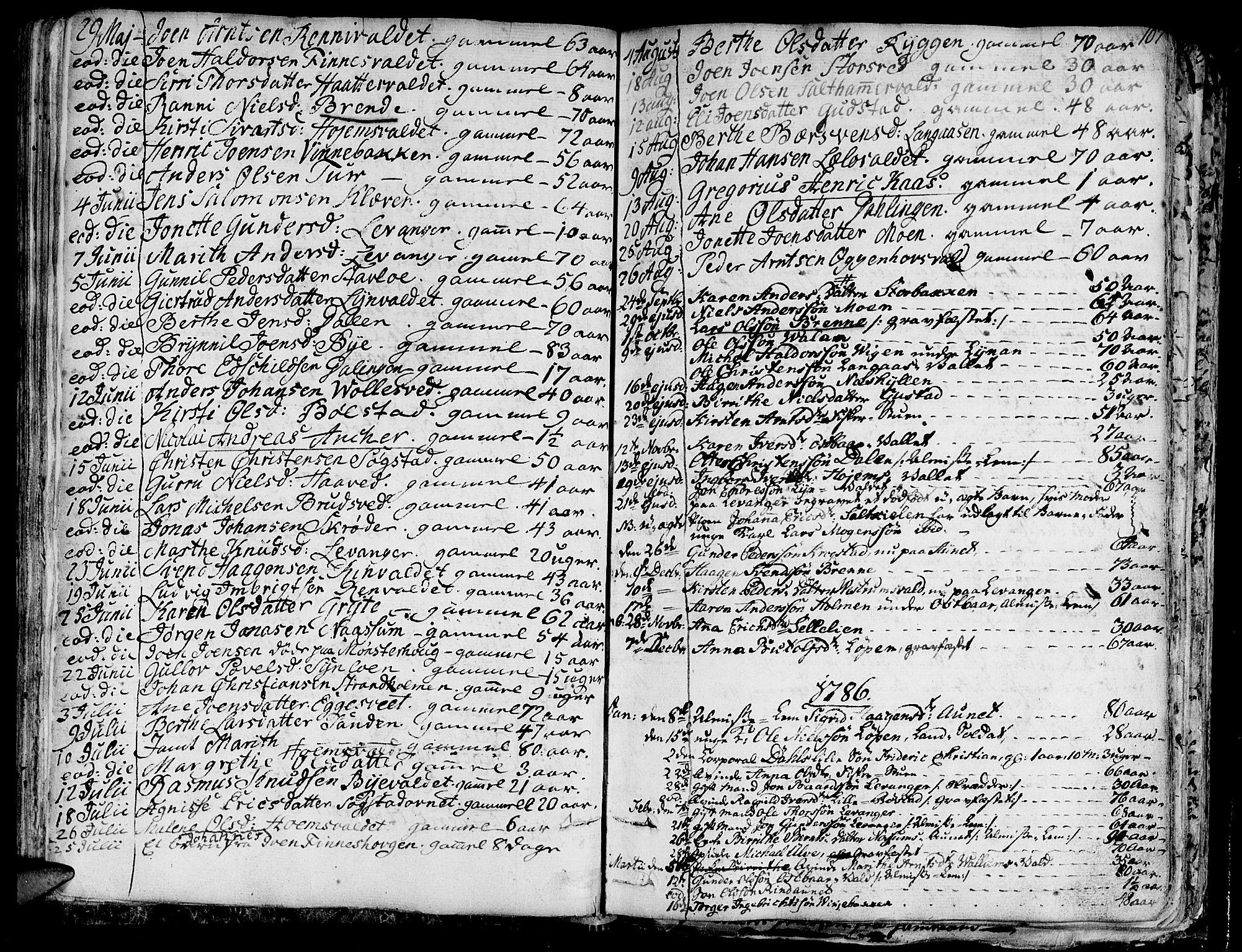 SAT, Ministerialprotokoller, klokkerbøker og fødselsregistre - Nord-Trøndelag, 717/L0142: Ministerialbok nr. 717A02 /1, 1783-1809, s. 107