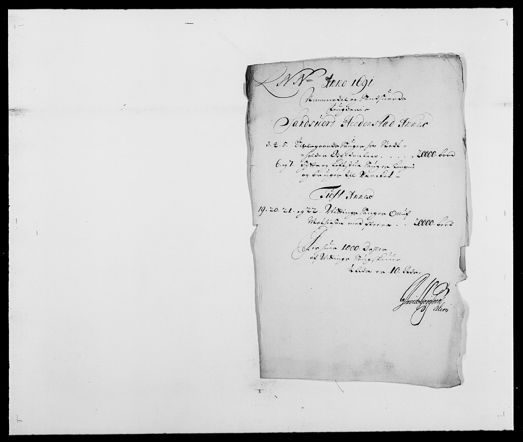 RA, Rentekammeret inntil 1814, Reviderte regnskaper, Fogderegnskap, R24/L1573: Fogderegnskap Numedal og Sandsvær, 1687-1691, s. 512