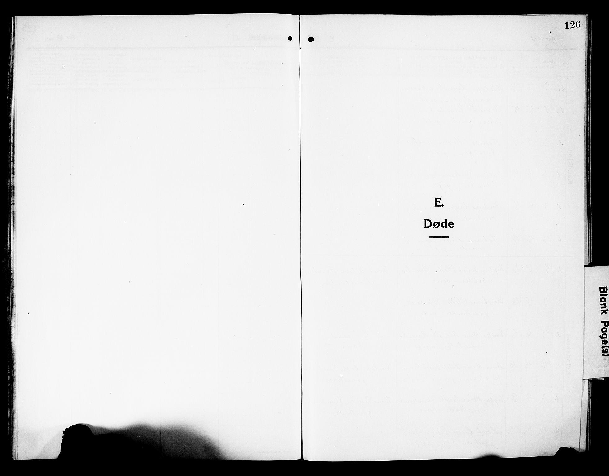 SAKO, Fiskum kirkebøker, G/Ga/L0006: Klokkerbok nr. 6, 1913-1927, s. 126