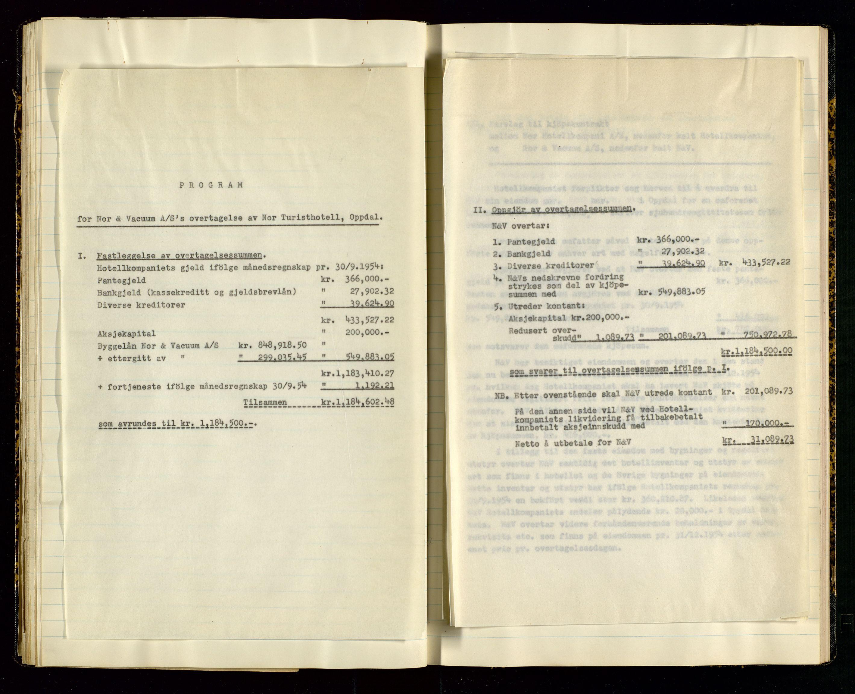 SAST, PA 1516 - Nor Hotellkompani A/S, A/L0001: Referatprotokoll, 1948-1855, s. 38