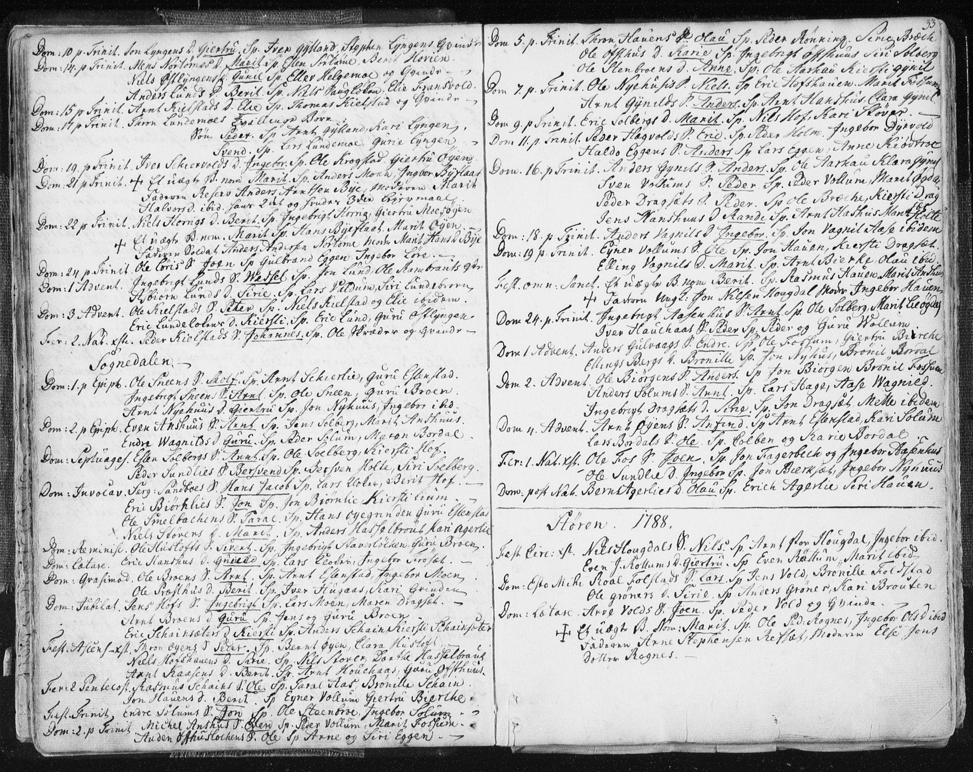 SAT, Ministerialprotokoller, klokkerbøker og fødselsregistre - Sør-Trøndelag, 687/L0991: Ministerialbok nr. 687A02, 1747-1790, s. 33