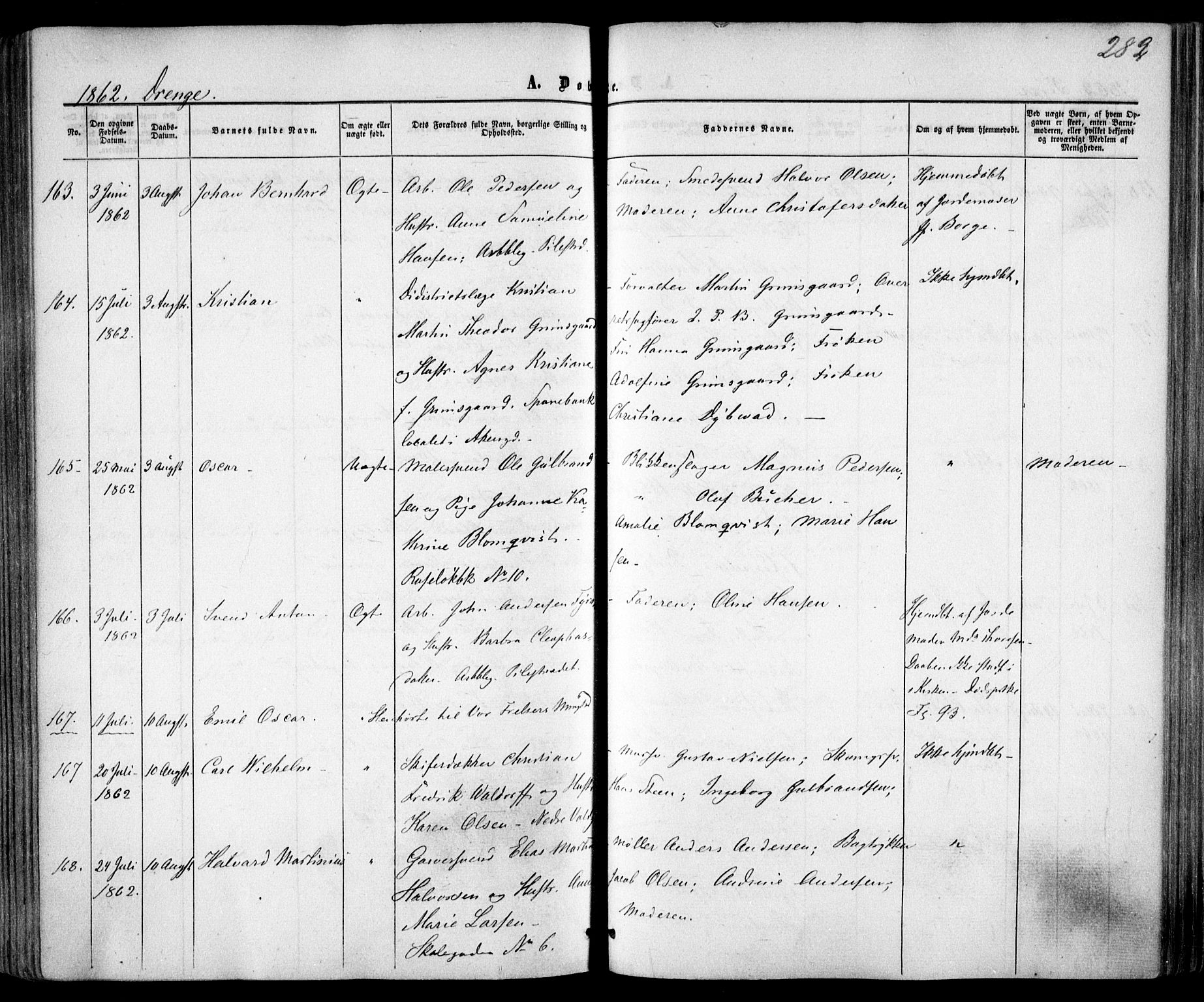 SAO, Trefoldighet prestekontor Kirkebøker, F/Fa/L0001: Ministerialbok nr. I 1, 1858-1863, s. 282