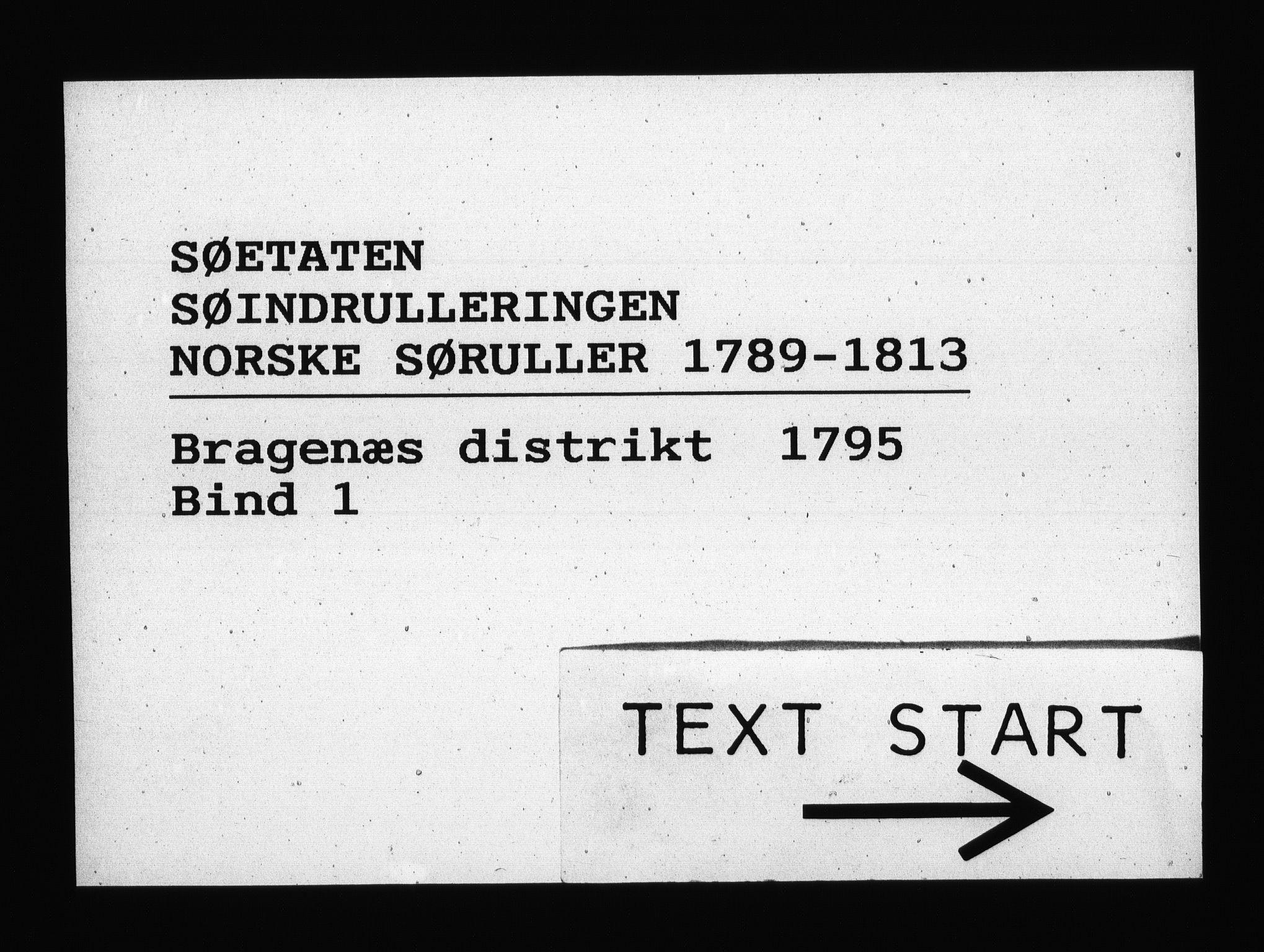 RA, Sjøetaten, F/L0115: Bragernes distrikt, bind 1, 1795