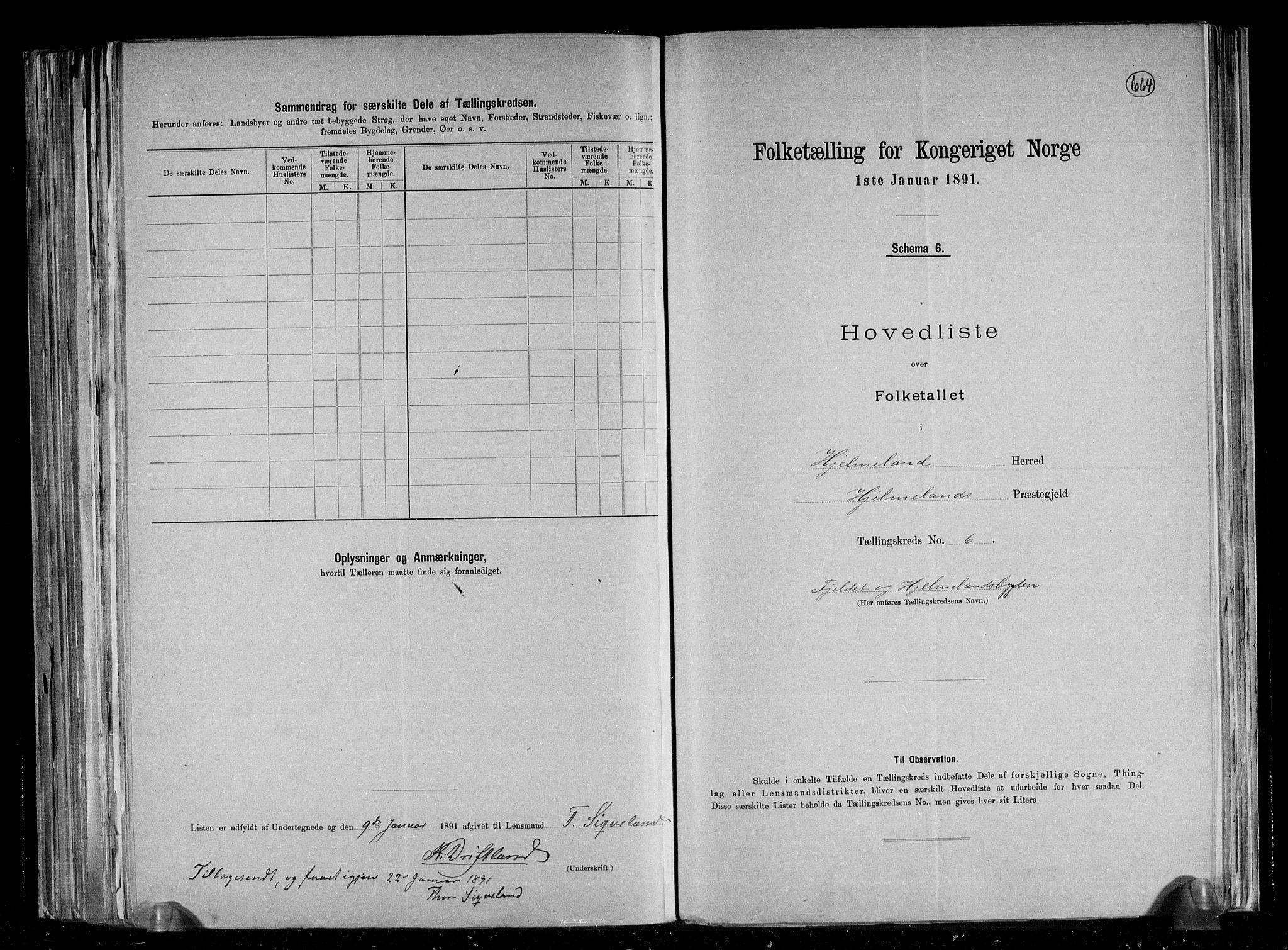 RA, Folketelling 1891 for 1133 Hjelmeland herred, 1891, s. 15