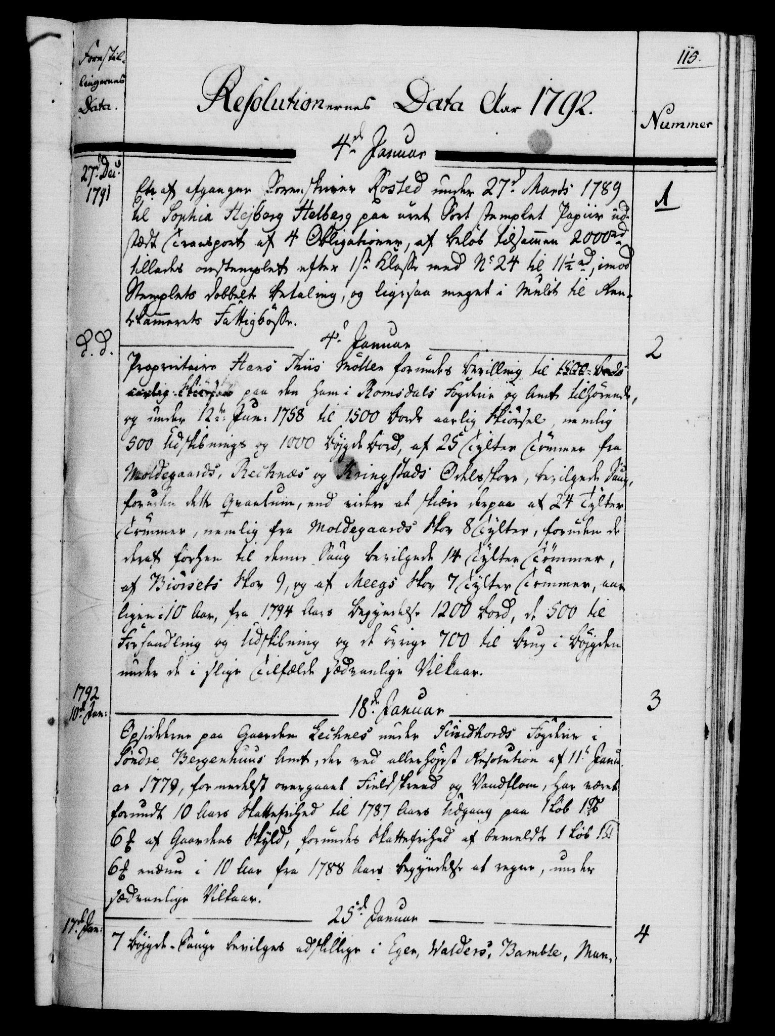 RA, Rentekammeret, Kammerkanselliet, G/Gf/Gfb/L0013: Register til norske relasjons- og resolusjonsprotokoller (merket RK 52.108), 1786-1793, s. 1115a