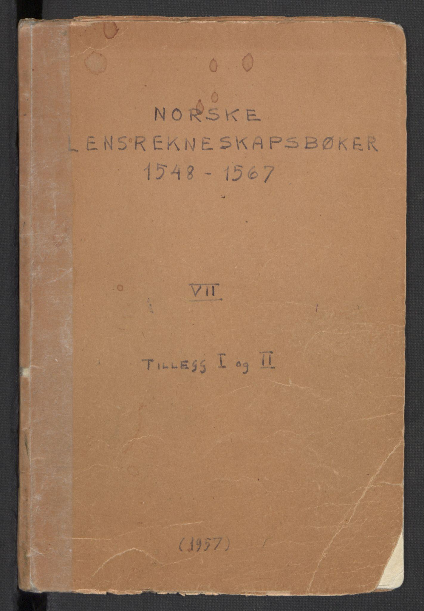 RA, Norske Lensrekneskapsbøker (publikasjon)*, 1548-1567