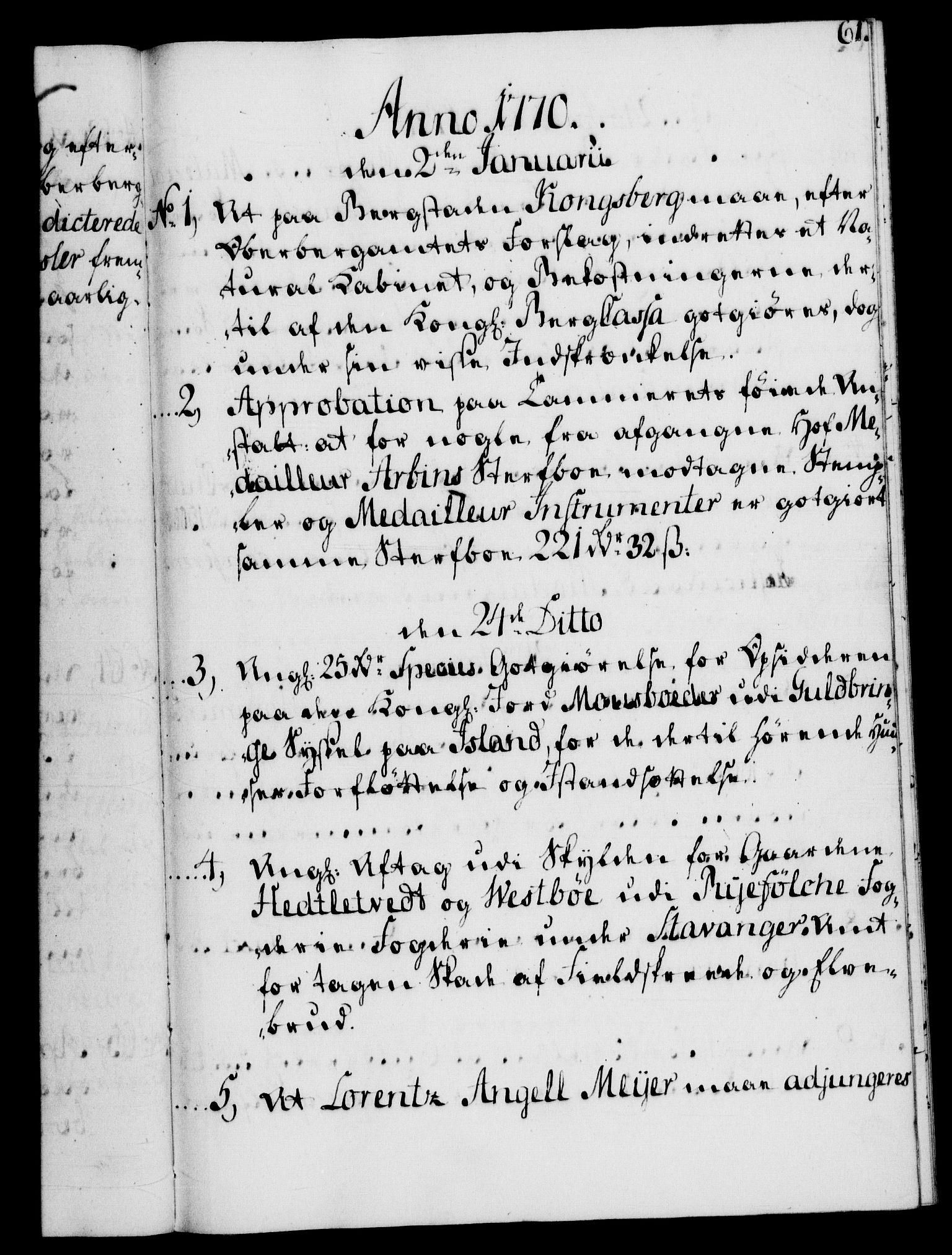 RA, Rentekammeret, Kammerkanselliet, G/Gf/Gfb/L0008: Register til norske relasjons- og resolusjonsprotokoller (merket RK 52.103), 1766-1771, s. 61
