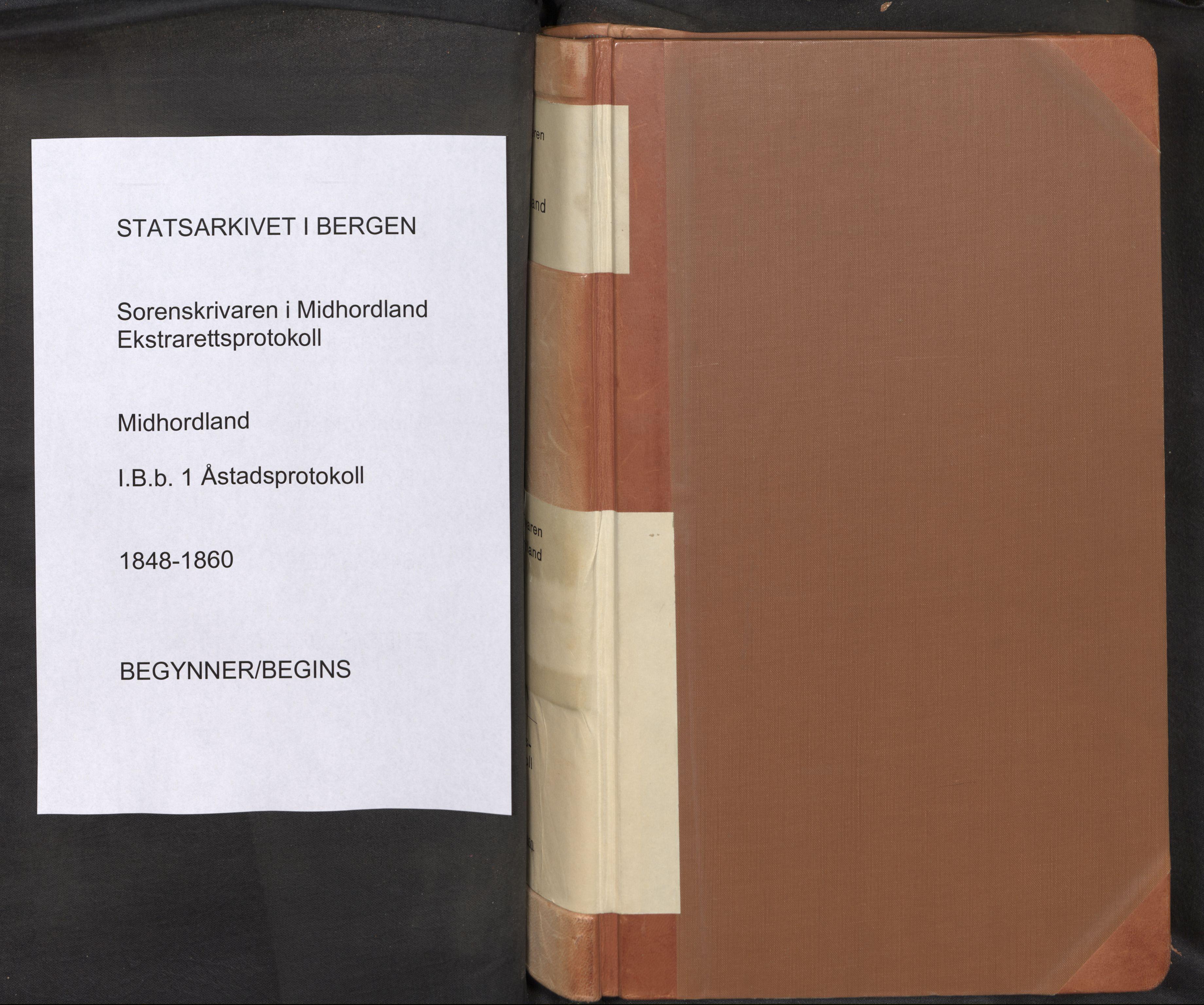 SAB, Midhordland sorenskriveri, F/Fb/Fbb/L0001: Åstadsprotokoll, 1848-1860