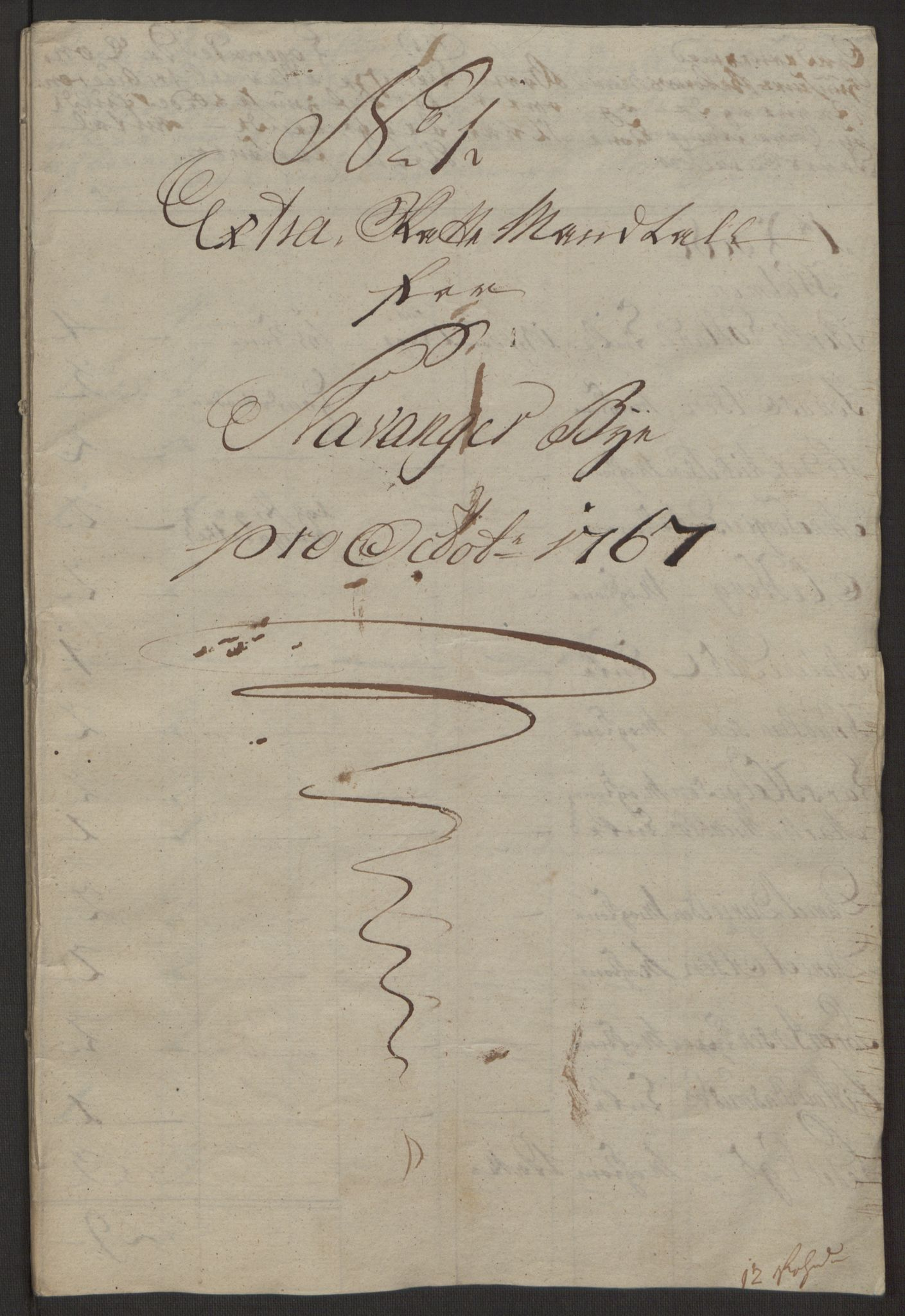 RA, Rentekammeret inntil 1814, Reviderte regnskaper, Byregnskaper, R/Ro/L0305: [O6] Kontribusjonsregnskap, 1762-1768, s. 346