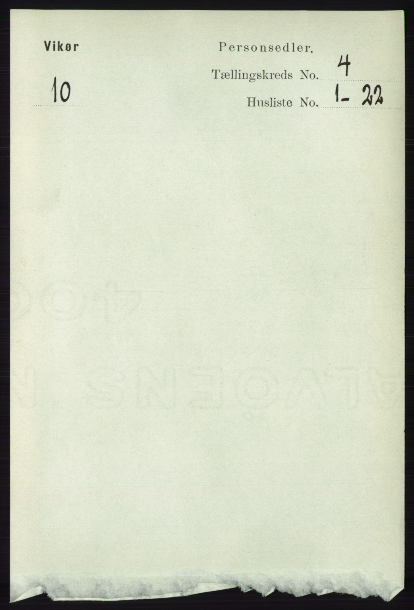 RA, Folketelling 1891 for 1238 Vikør herred, 1891, s. 1084