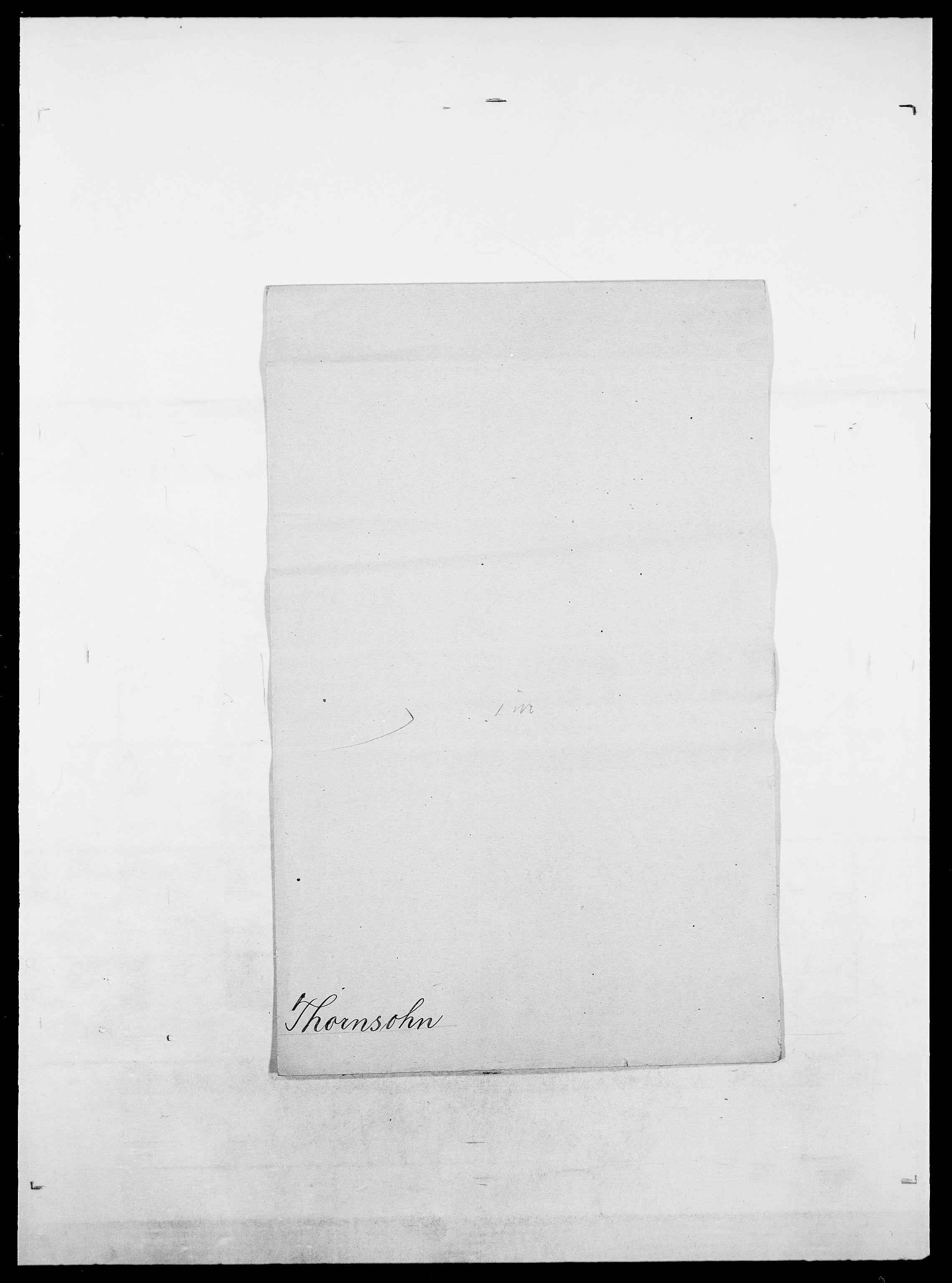 SAO, Delgobe, Charles Antoine - samling, D/Da/L0038: Svanenskjold - Thornsohn, s. 896
