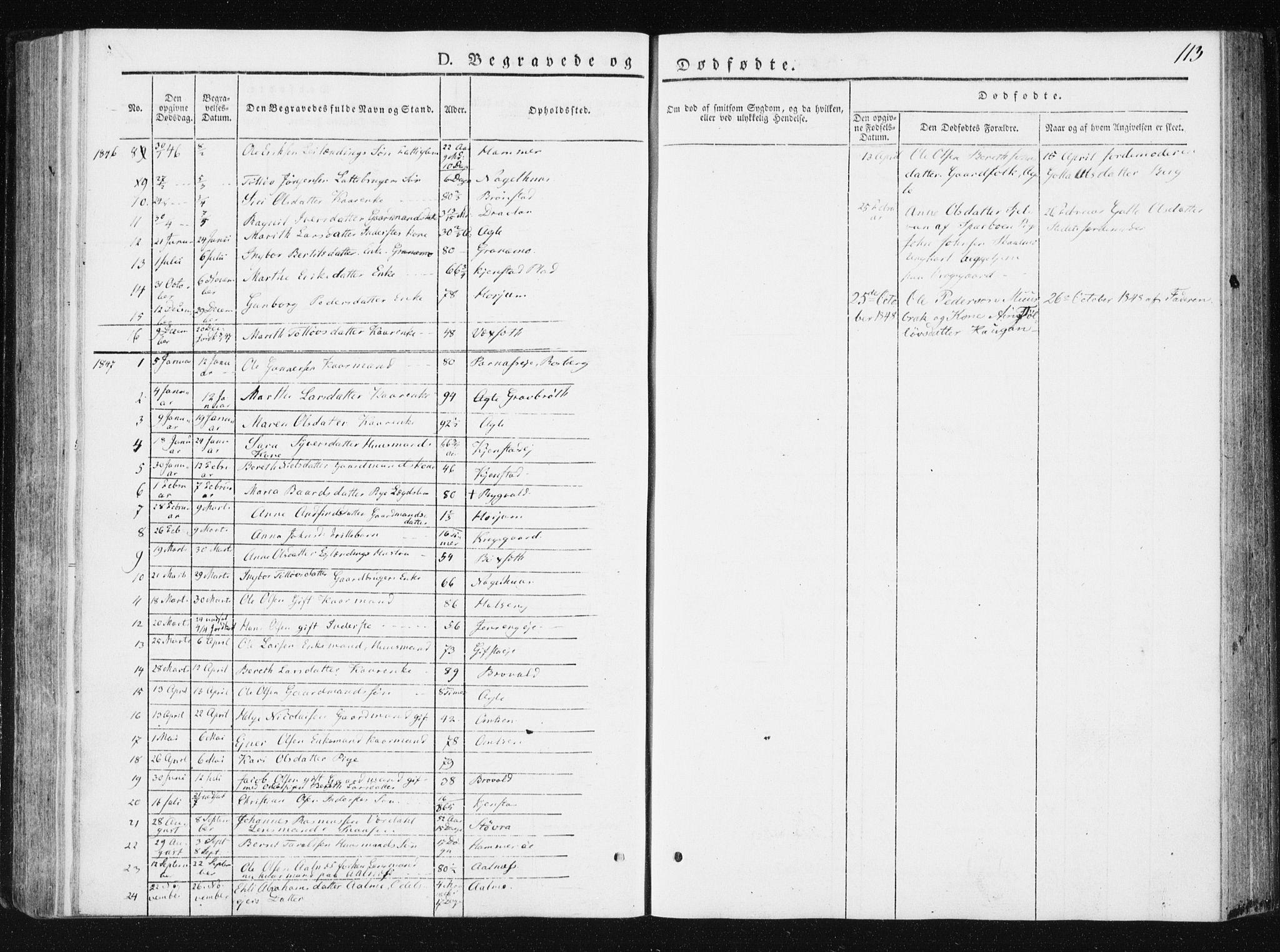 SAT, Ministerialprotokoller, klokkerbøker og fødselsregistre - Nord-Trøndelag, 749/L0470: Ministerialbok nr. 749A04, 1834-1853, s. 113