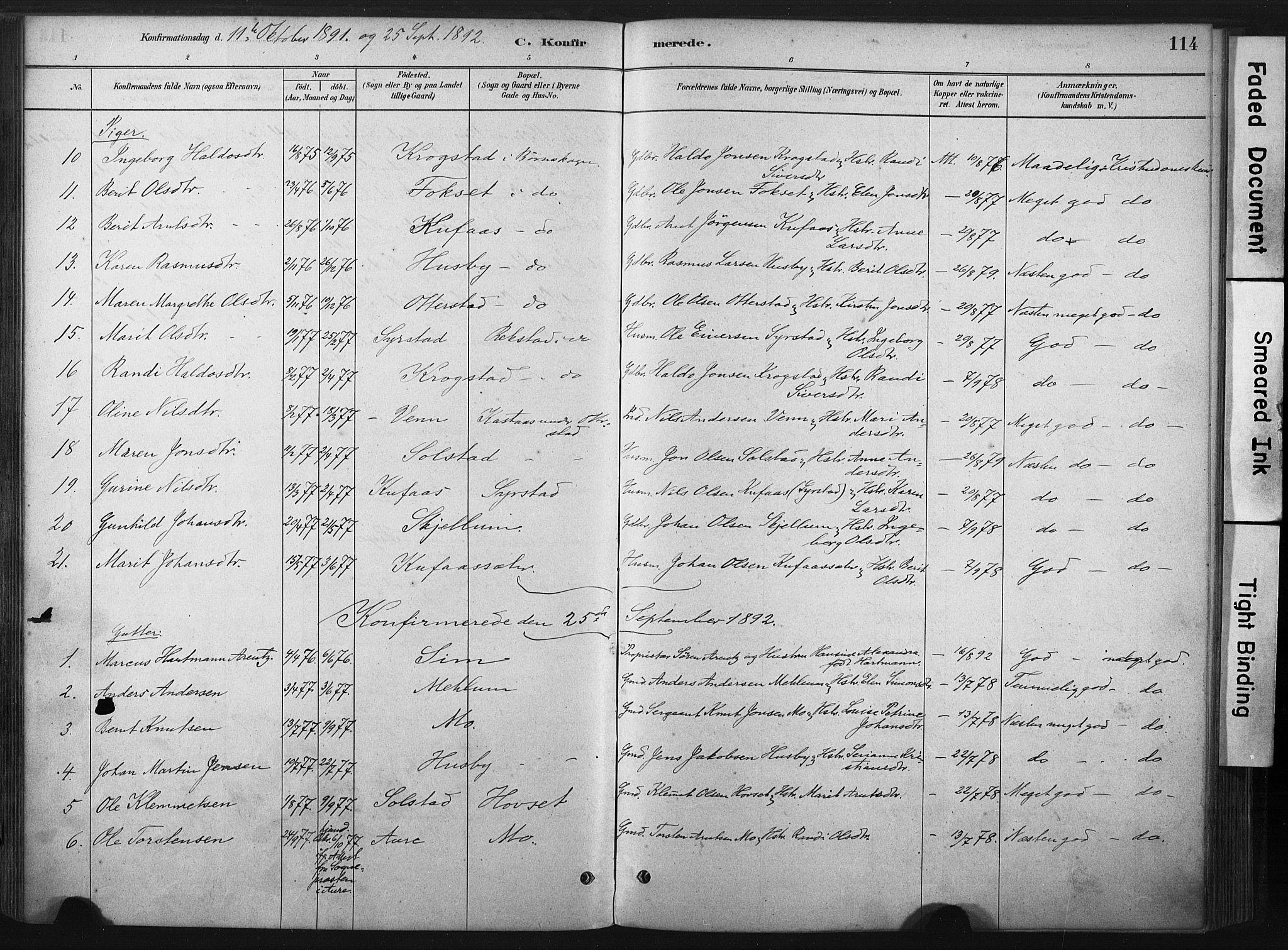 SAT, Ministerialprotokoller, klokkerbøker og fødselsregistre - Sør-Trøndelag, 667/L0795: Ministerialbok nr. 667A03, 1879-1907, s. 114