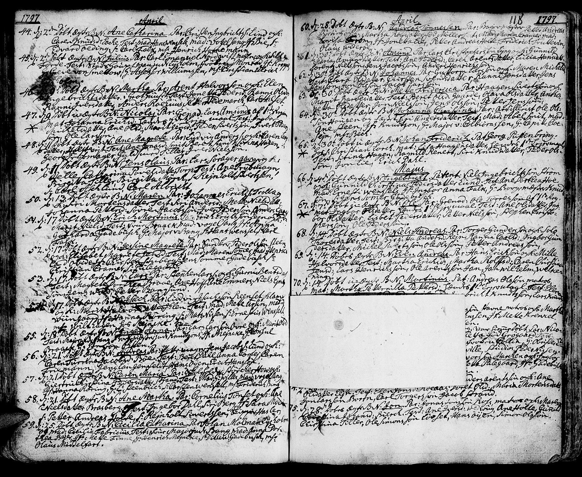 SAT, Ministerialprotokoller, klokkerbøker og fødselsregistre - Sør-Trøndelag, 601/L0039: Ministerialbok nr. 601A07, 1770-1819, s. 118