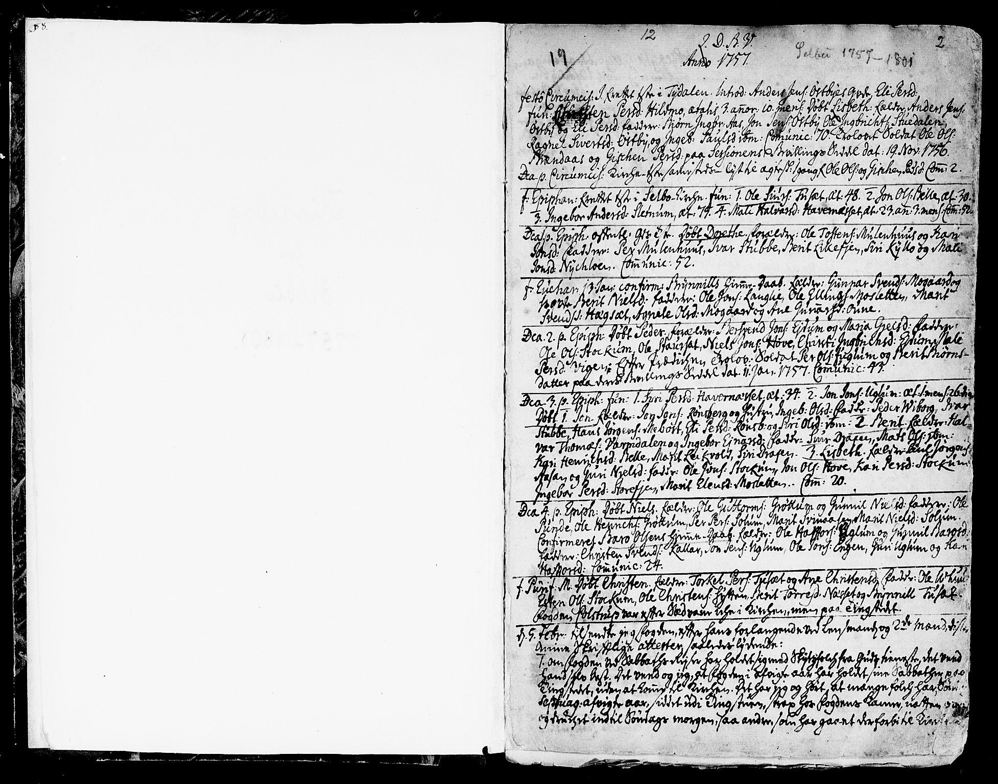 SAT, Ministerialprotokoller, klokkerbøker og fødselsregistre - Sør-Trøndelag, 695/L1138: Ministerialbok nr. 695A02 /1, 1757-1801, s. 2