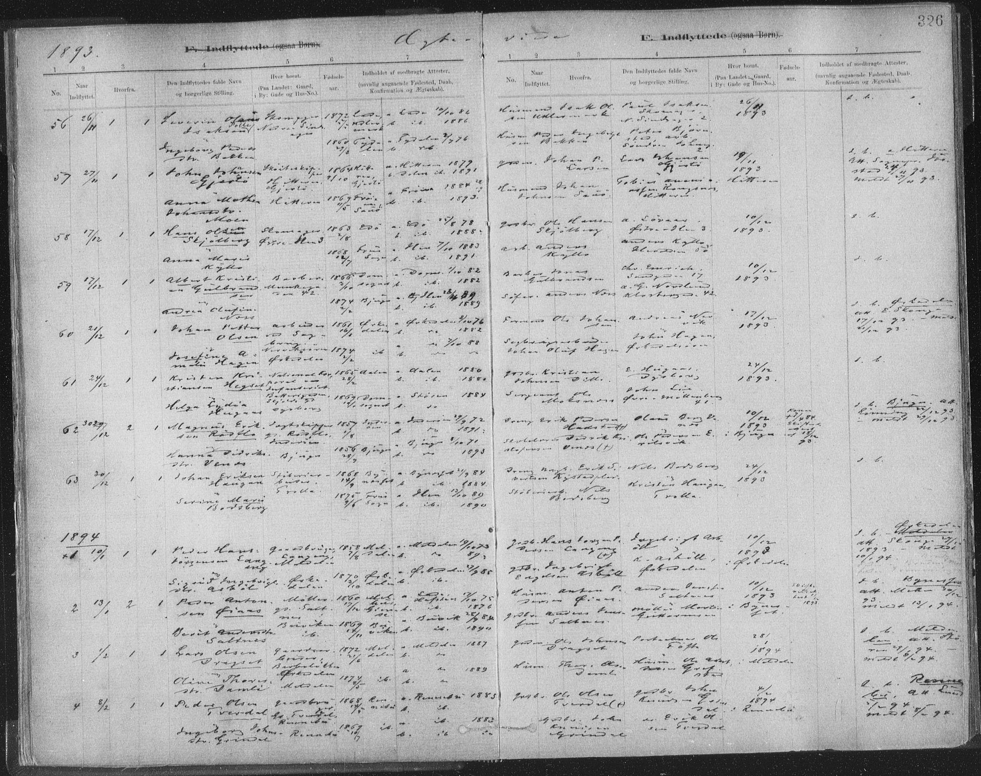 SAT, Ministerialprotokoller, klokkerbøker og fødselsregistre - Sør-Trøndelag, 603/L0163: Ministerialbok nr. 603A02, 1879-1895, s. 326