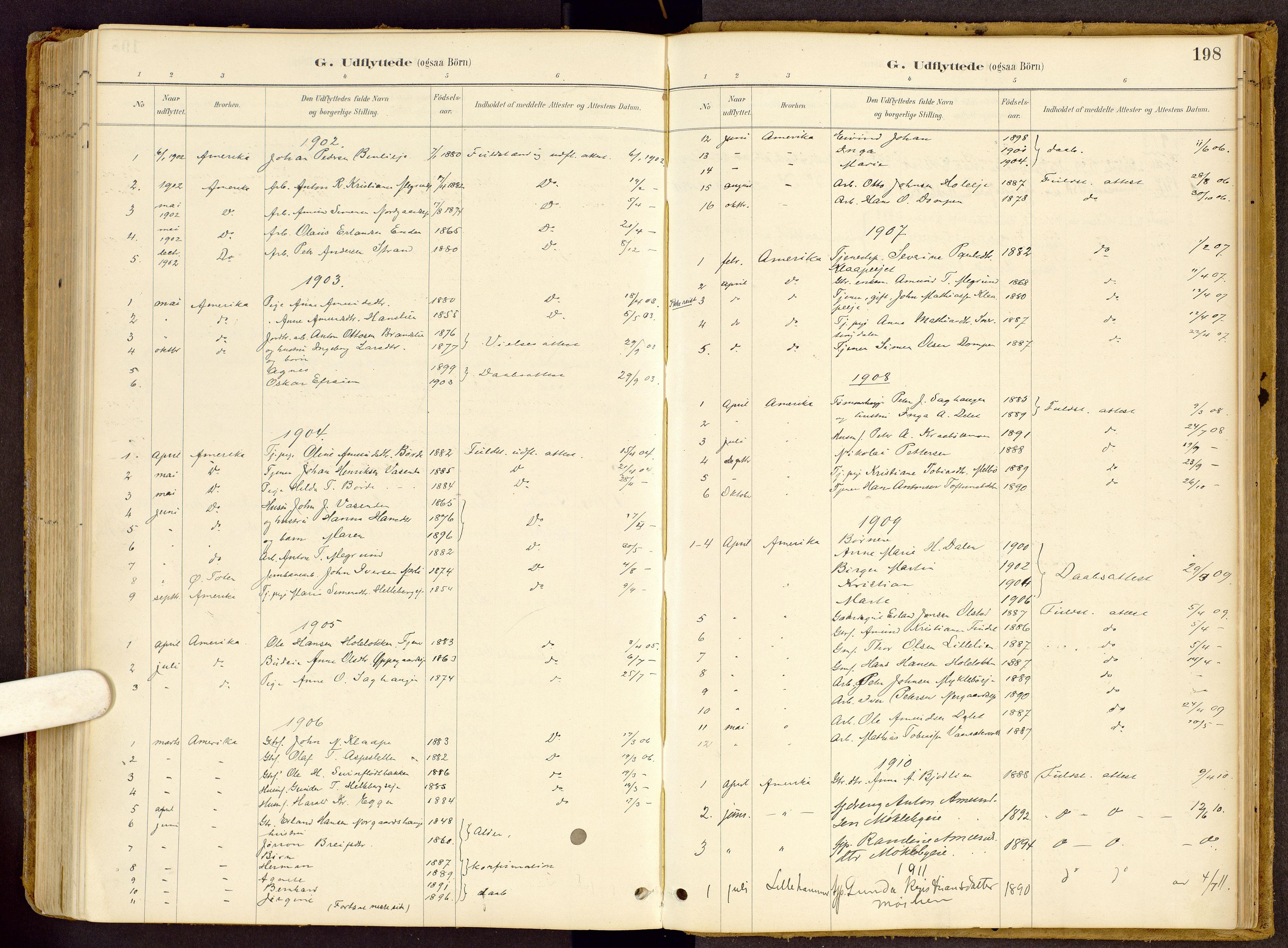SAH, Vestre Gausdal prestekontor, Ministerialbok nr. 2, 1887-1918, s. 198