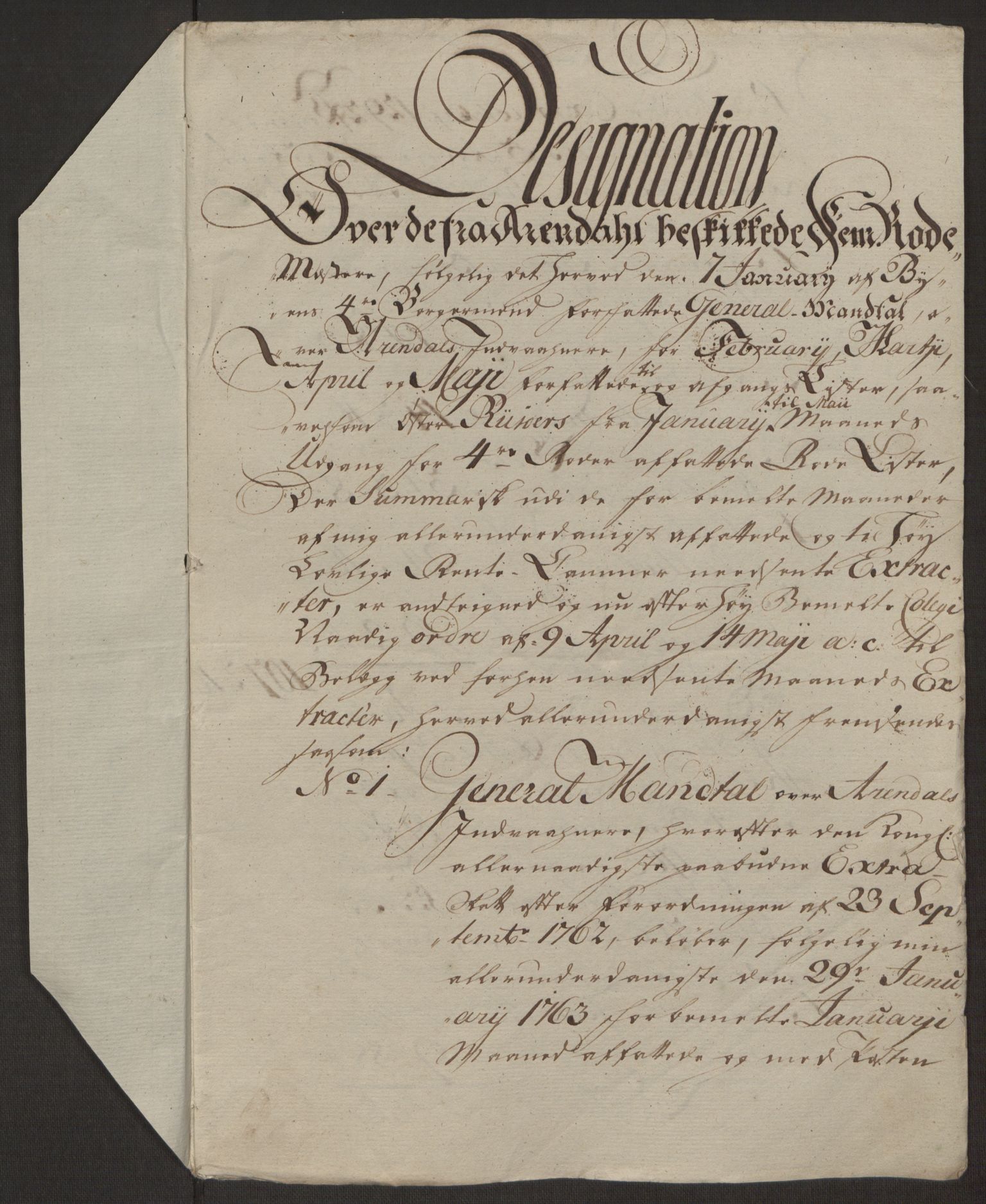 RA, Rentekammeret inntil 1814, Reviderte regnskaper, Byregnskaper, R/Rl/L0230: [L4] Kontribusjonsregnskap, 1762-1764, s. 303