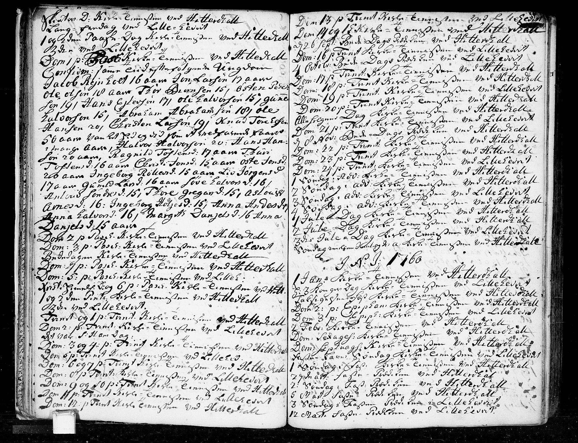 SAKO, Heddal kirkebøker, F/Fa/L0003: Ministerialbok nr. I 3, 1723-1783, s. 34