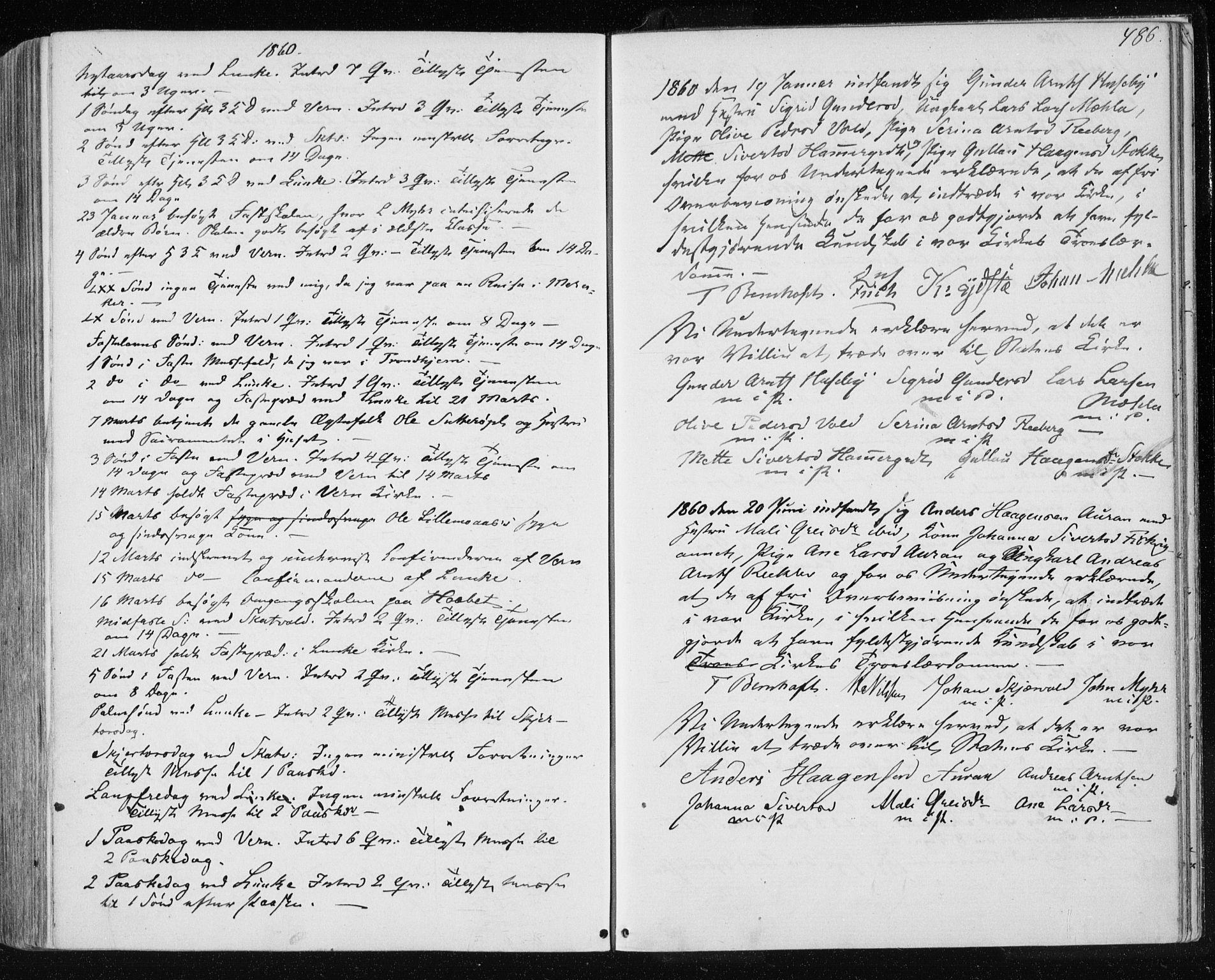 SAT, Ministerialprotokoller, klokkerbøker og fødselsregistre - Nord-Trøndelag, 709/L0075: Ministerialbok nr. 709A15, 1859-1870, s. 486