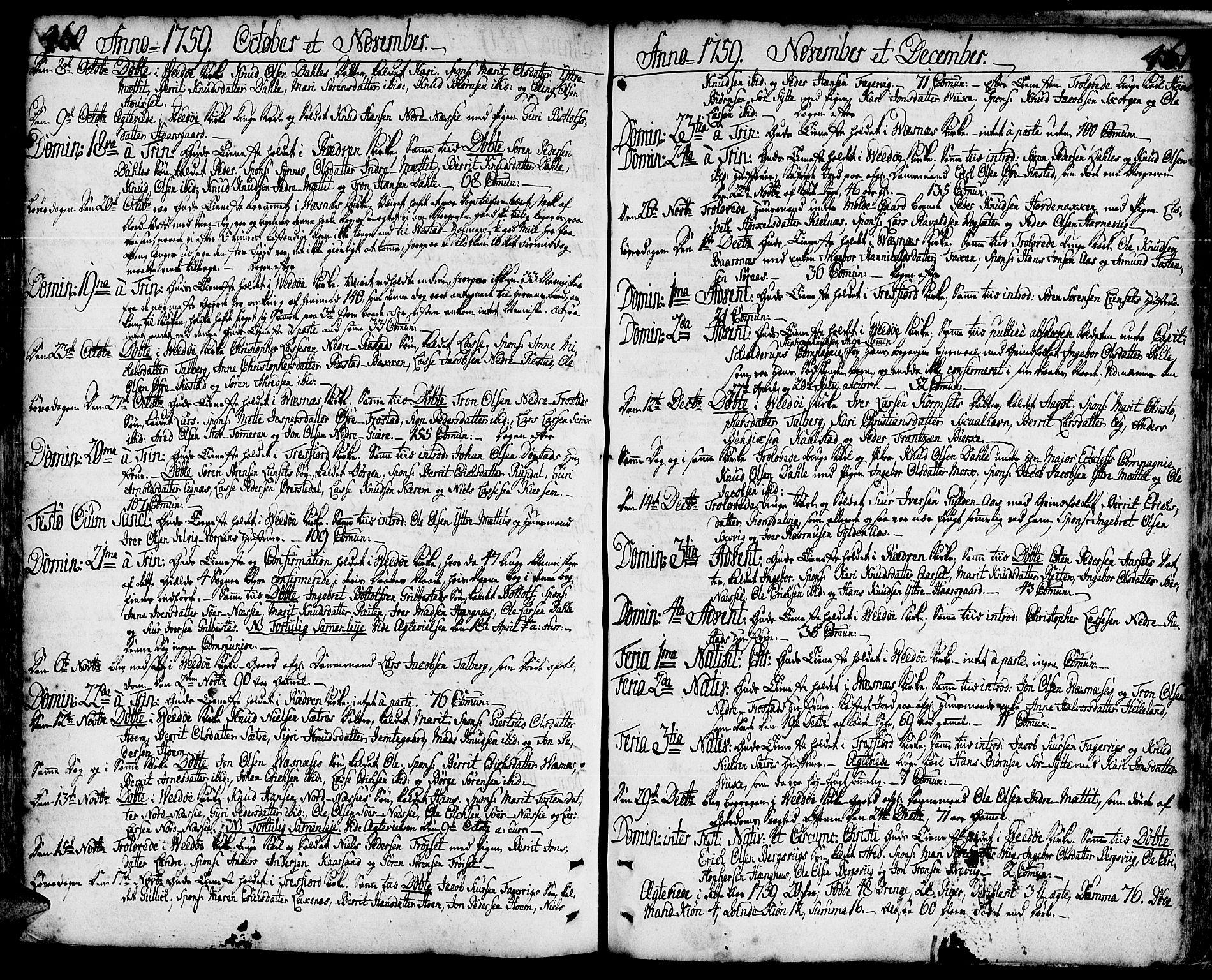 SAT, Ministerialprotokoller, klokkerbøker og fødselsregistre - Møre og Romsdal, 547/L0599: Ministerialbok nr. 547A01, 1721-1764, s. 460-461