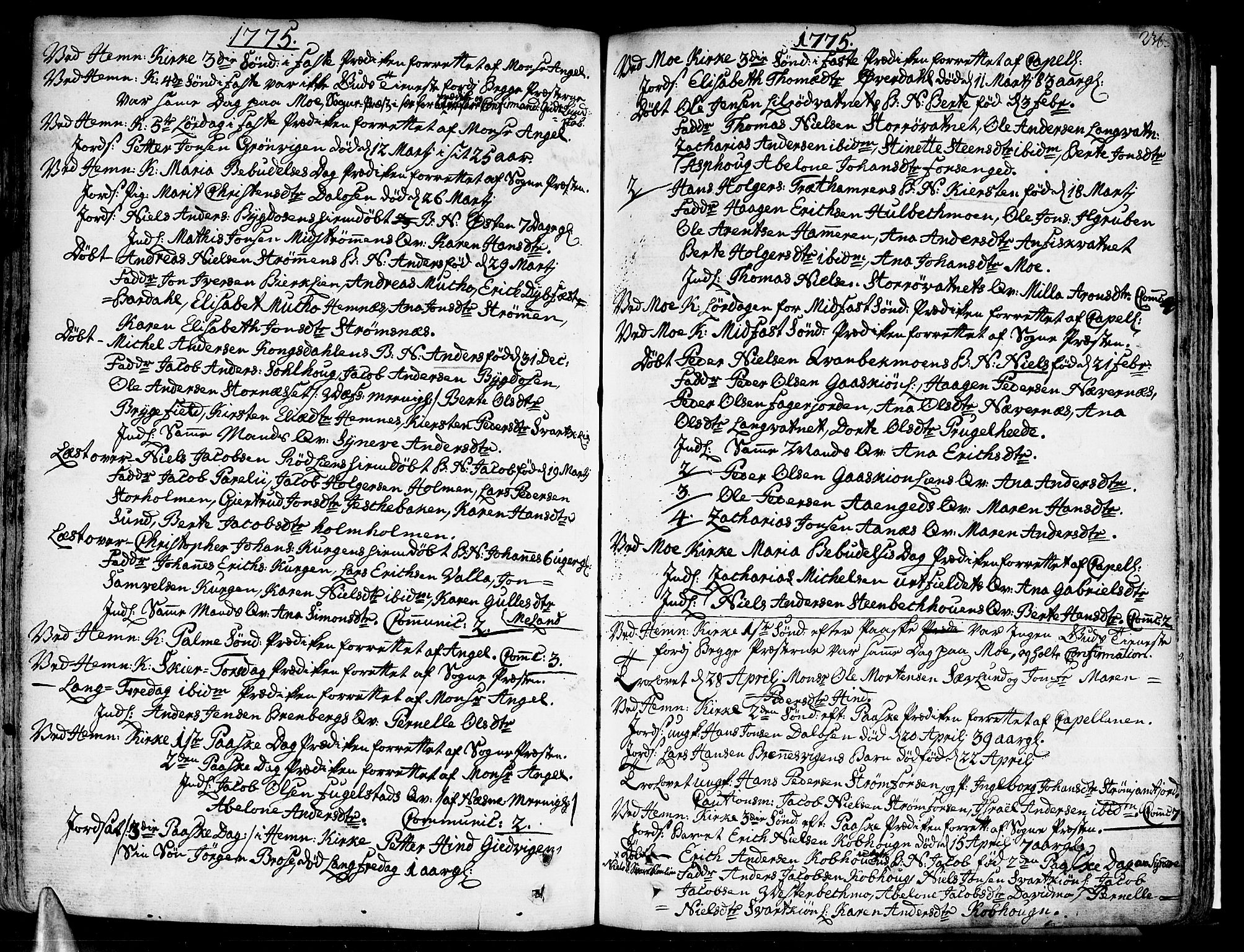SAT, Ministerialprotokoller, klokkerbøker og fødselsregistre - Nordland, 825/L0348: Ministerialbok nr. 825A04, 1752-1788, s. 236