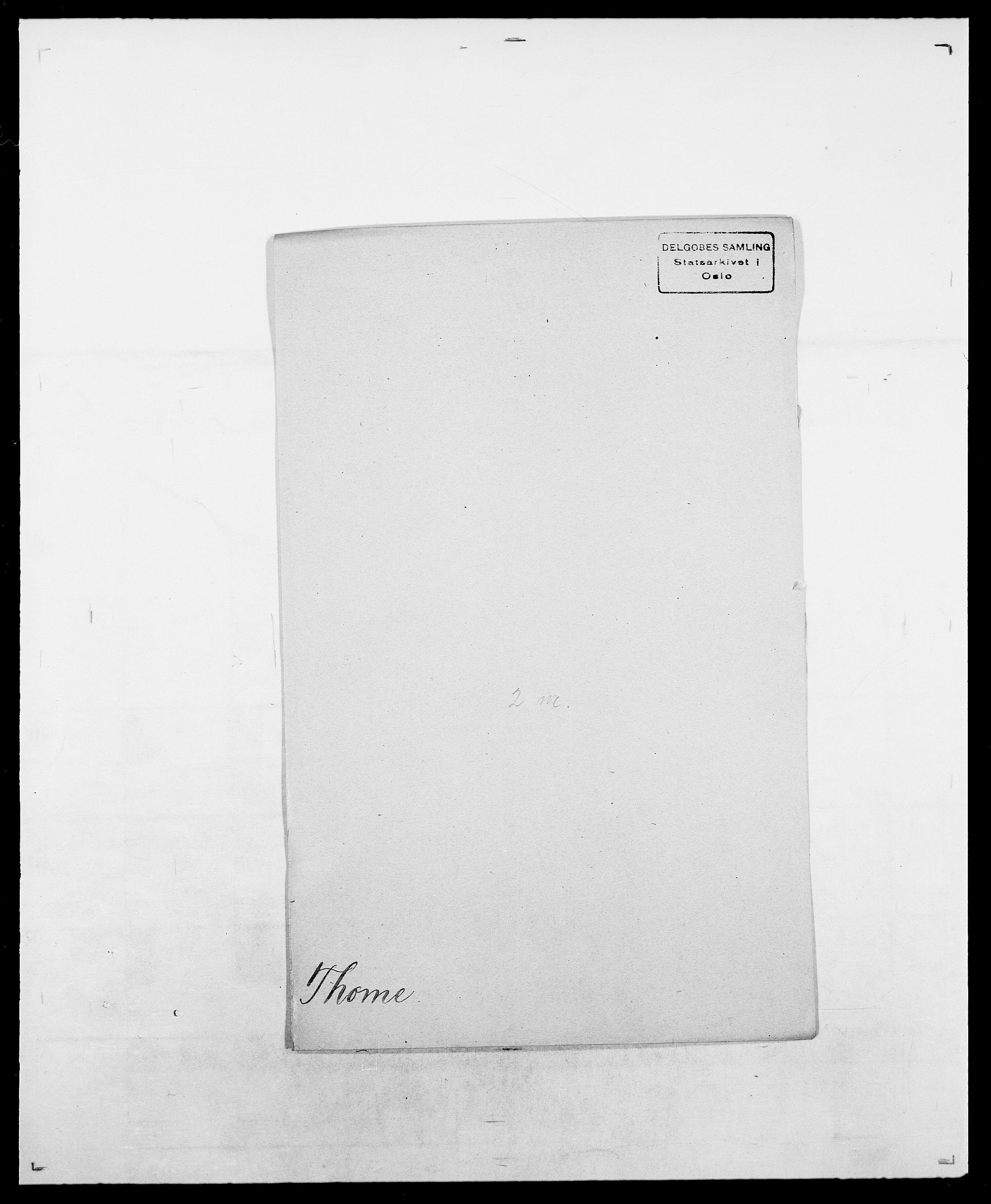 SAO, Delgobe, Charles Antoine - samling, D/Da/L0038: Svanenskjold - Thornsohn, s. 790