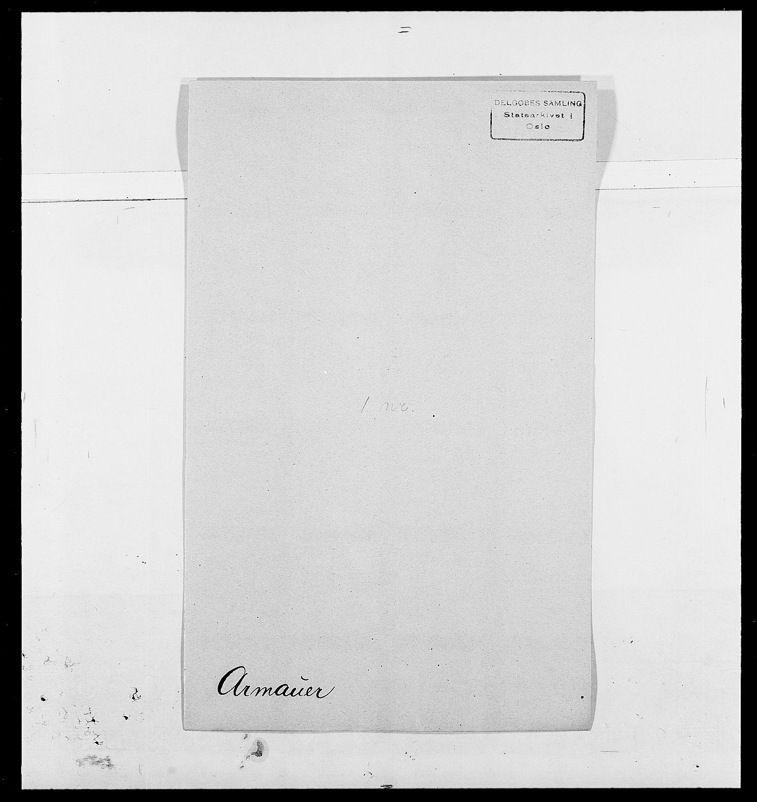 SAO, Delgobe, Charles Antoine - samling, D/Da/L0002: Anker, Ancher - Bauner, s. 313