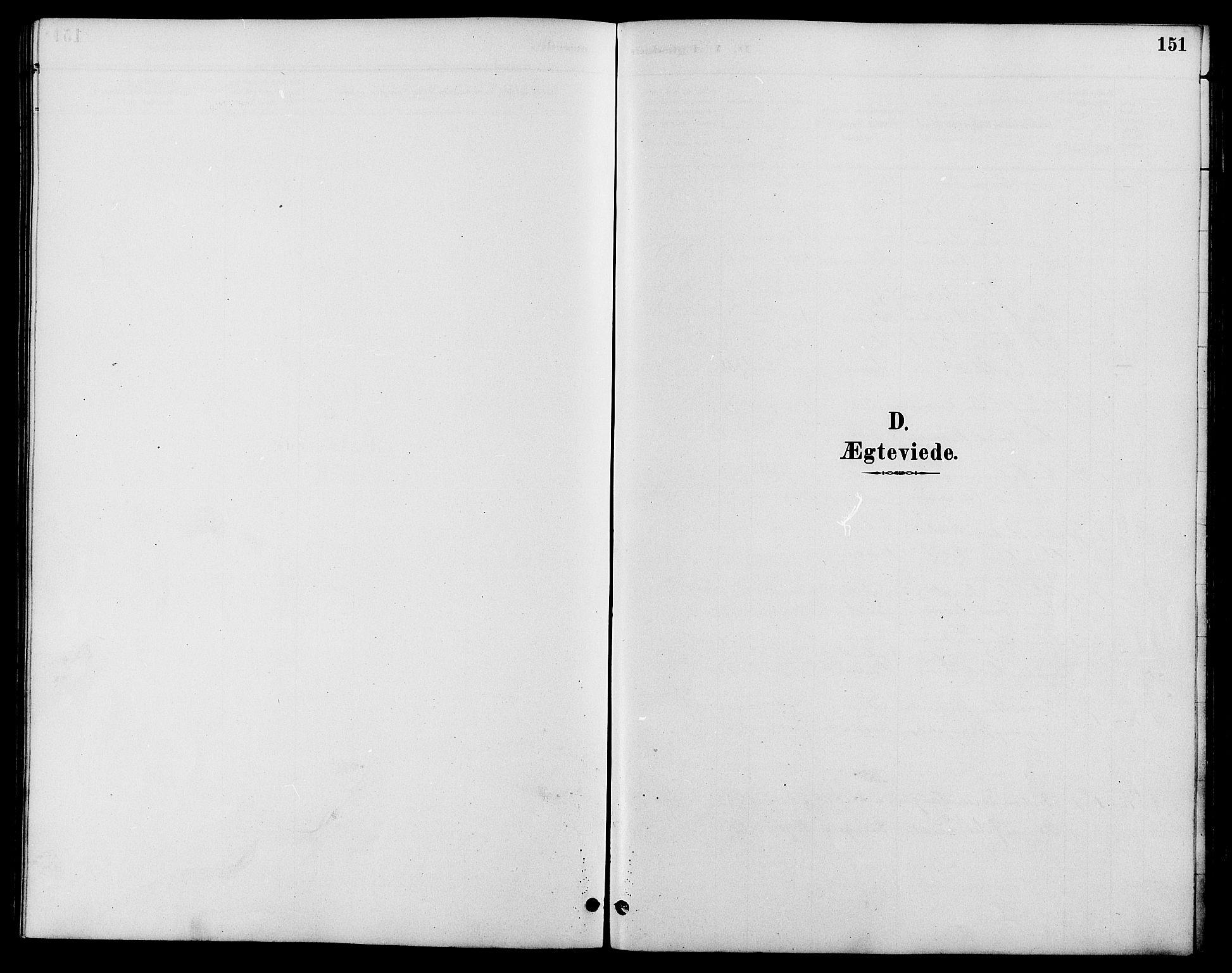 SAH, Nord-Fron prestekontor, Klokkerbok nr. 6, 1887-1914, s. 151