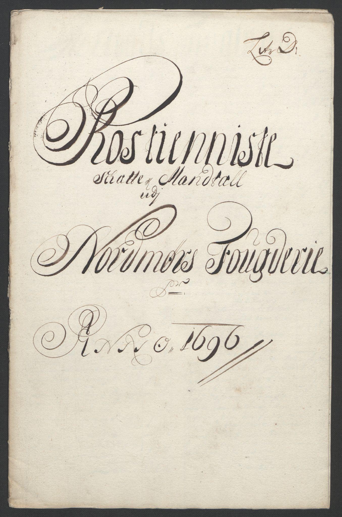 RA, Rentekammeret inntil 1814, Reviderte regnskaper, Fogderegnskap, R56/L3736: Fogderegnskap Nordmøre, 1694-1696, s. 410