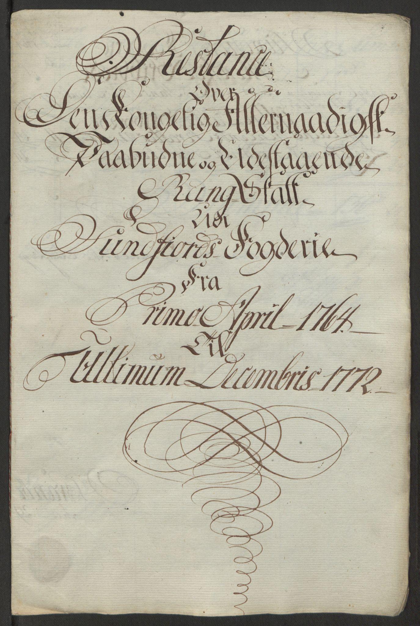 RA, Rentekammeret inntil 1814, Reviderte regnskaper, Fogderegnskap, R53/L3551: Ekstraskatten Sunn- og Nordfjord, 1772, s. 305