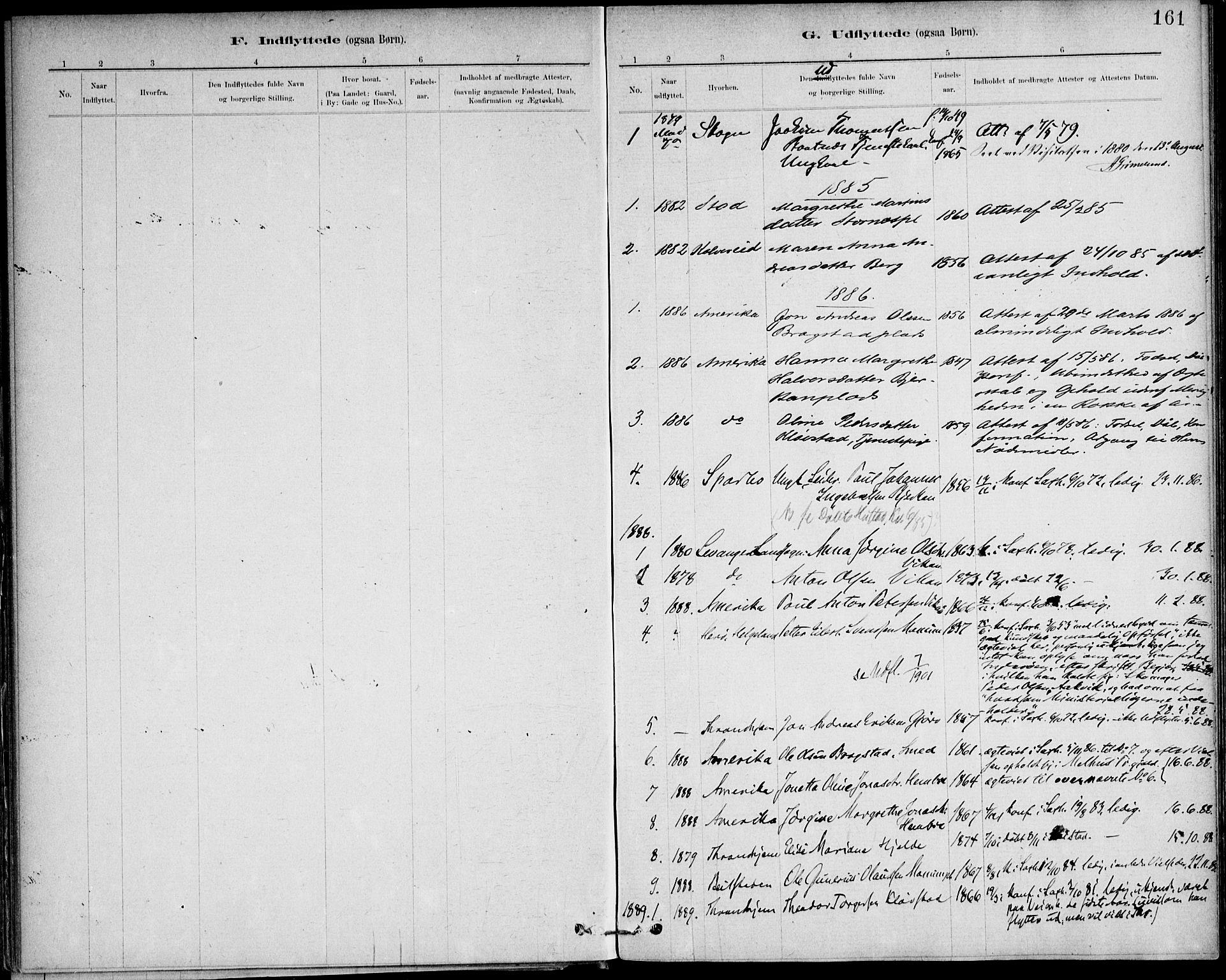 SAT, Ministerialprotokoller, klokkerbøker og fødselsregistre - Nord-Trøndelag, 732/L0316: Ministerialbok nr. 732A01, 1879-1921, s. 161