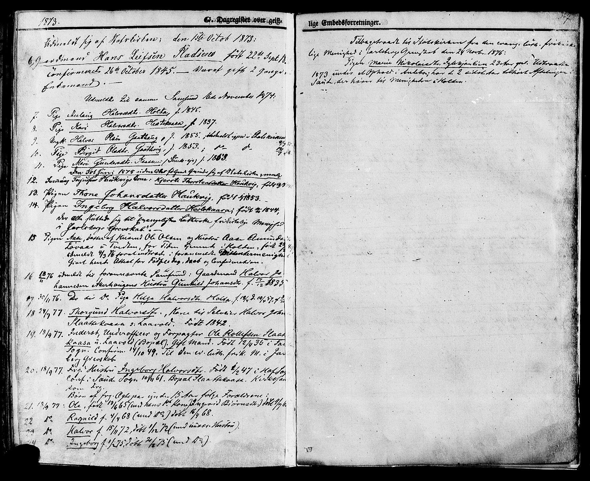 SAKO, Sauherad kirkebøker, F/Fa/L0007: Ministerialbok nr. I 7, 1851-1873, s. 367