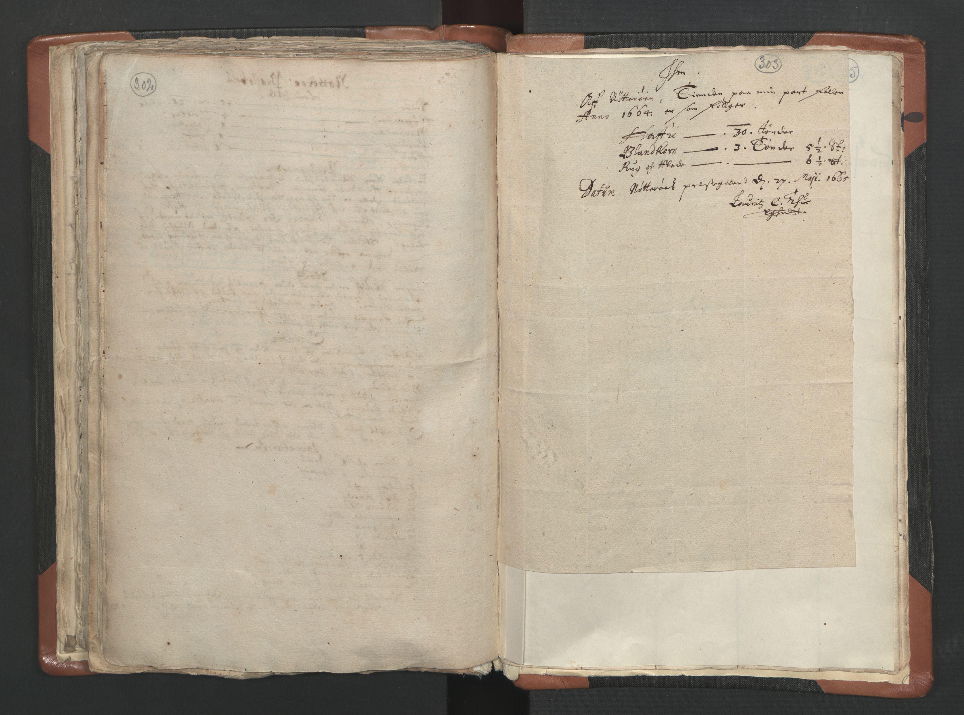 RA, Sogneprestenes manntall 1664-1666, nr. 10: Tønsberg prosti, 1664-1666, s. 302-303