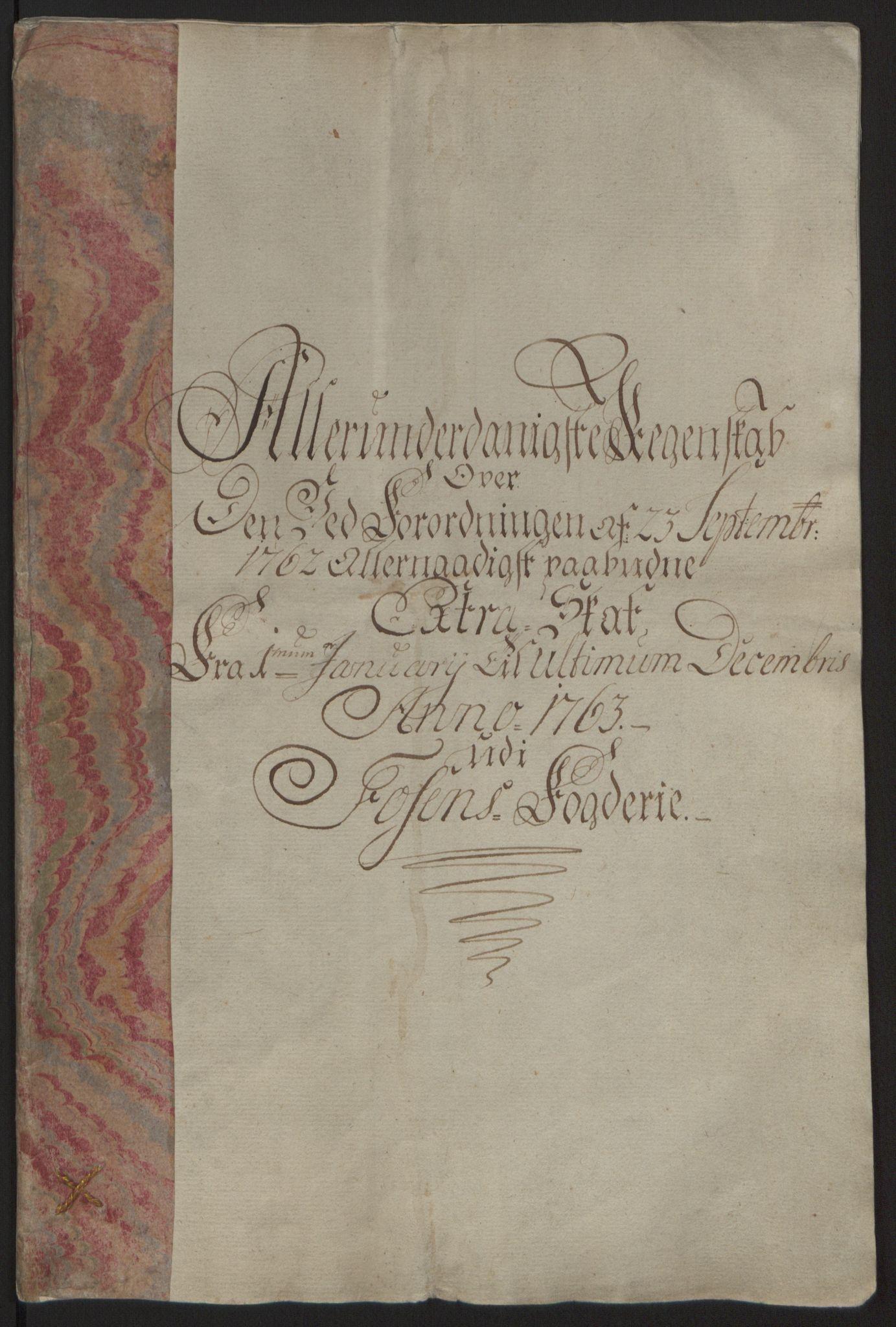 RA, Rentekammeret inntil 1814, Reviderte regnskaper, Fogderegnskap, R57/L3930: Ekstraskatten Fosen, 1762-1763, s. 292