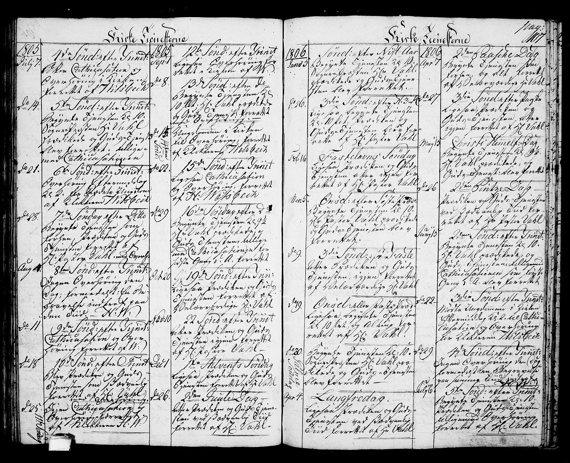 SAKO, Langesund kirkebøker, G/Ga/L0002: Klokkerbok nr. 2, 1801-1815, s. 107