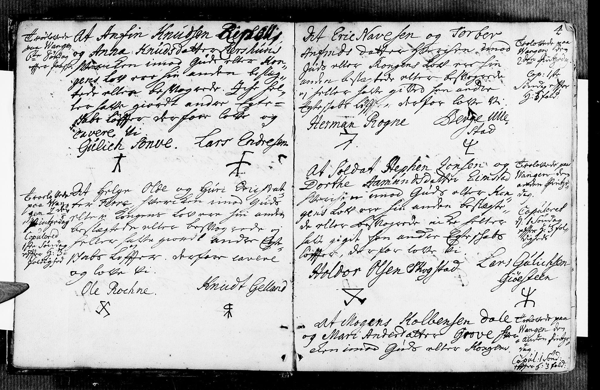 SAB, Voss Sokneprestembete, H/Haa: Ministerialbok nr. A 7, 1731-1773, s. 4
