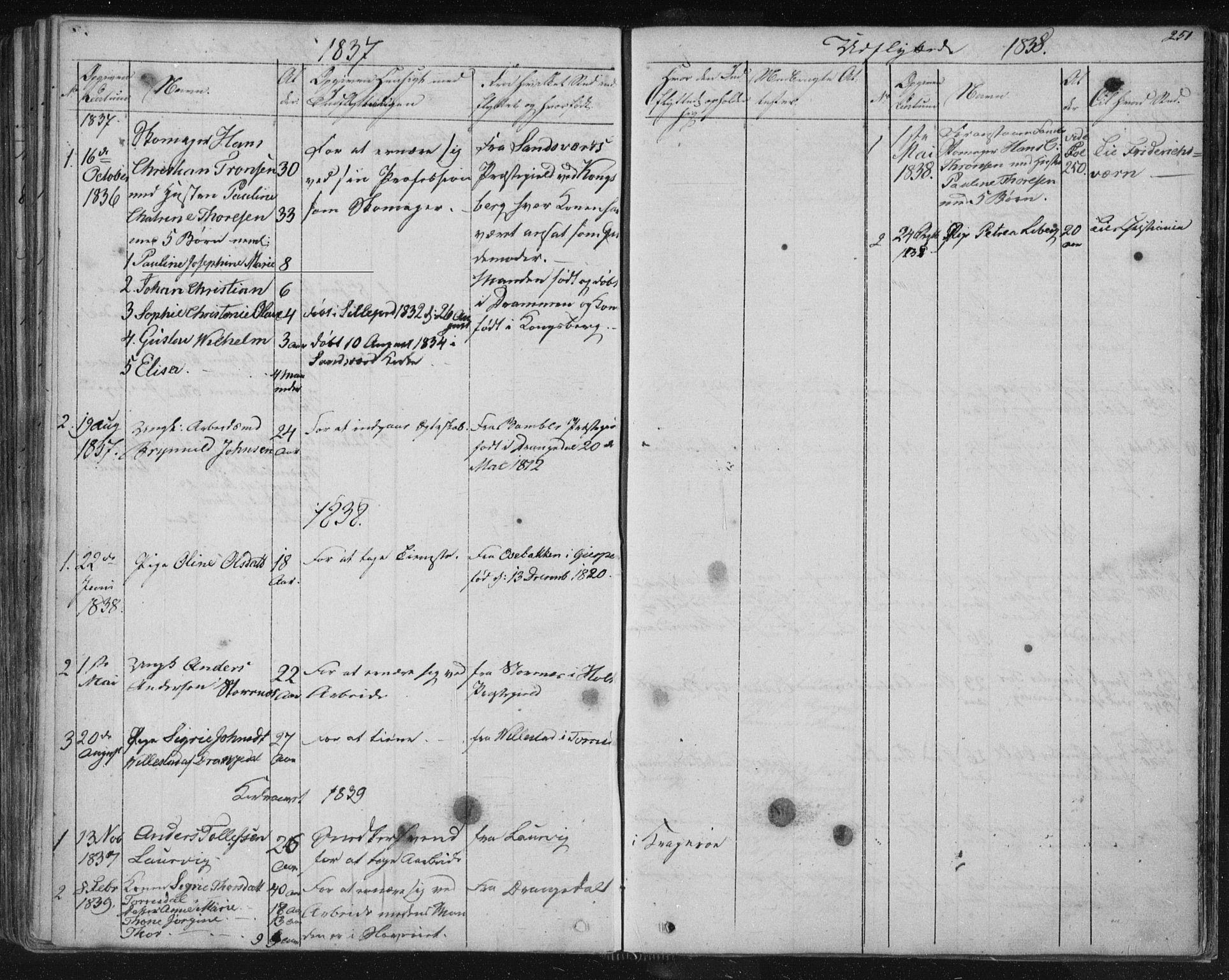 SAKO, Kragerø kirkebøker, F/Fa/L0005: Ministerialbok nr. 5, 1832-1847, s. 251