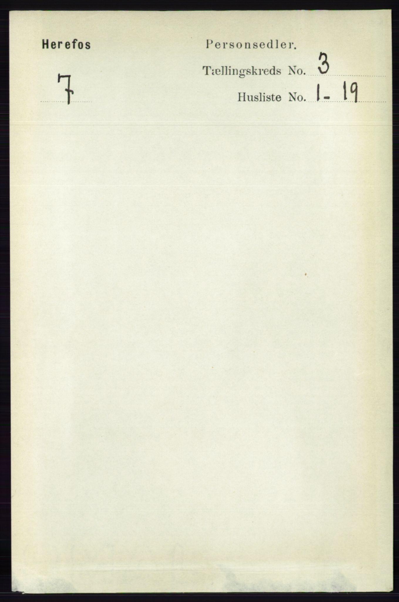 RA, Folketelling 1891 for 0933 Herefoss herred, 1891, s. 542